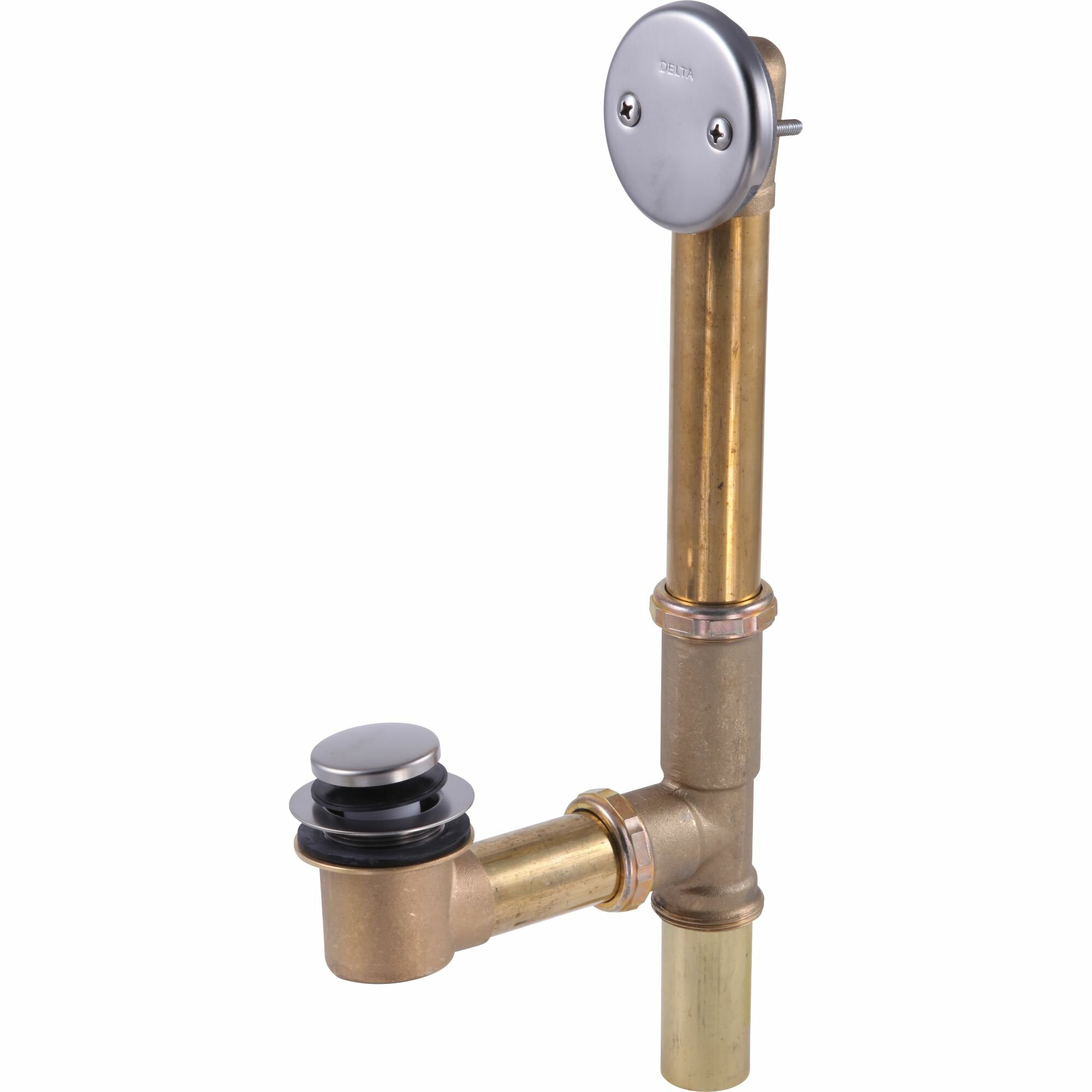 Delta Solid Brass Bath Waste Assembly Toe Touch Bathroom Sink Drain Reviews