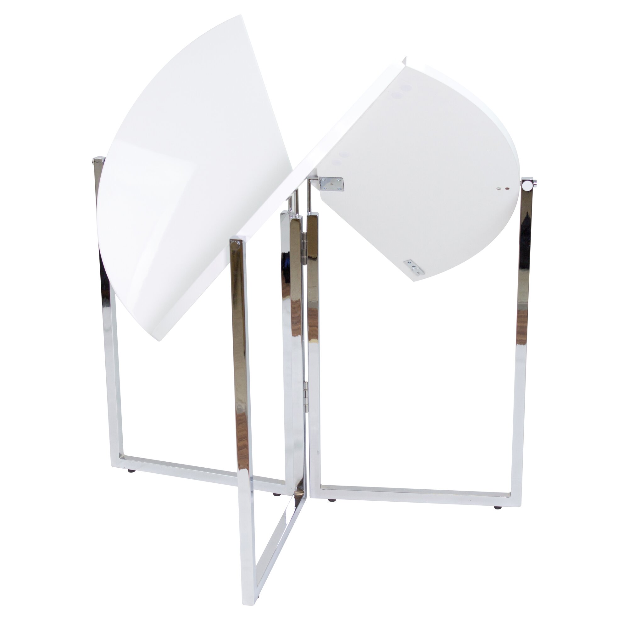 Radiant Circular Folding Table With White Folding Table.