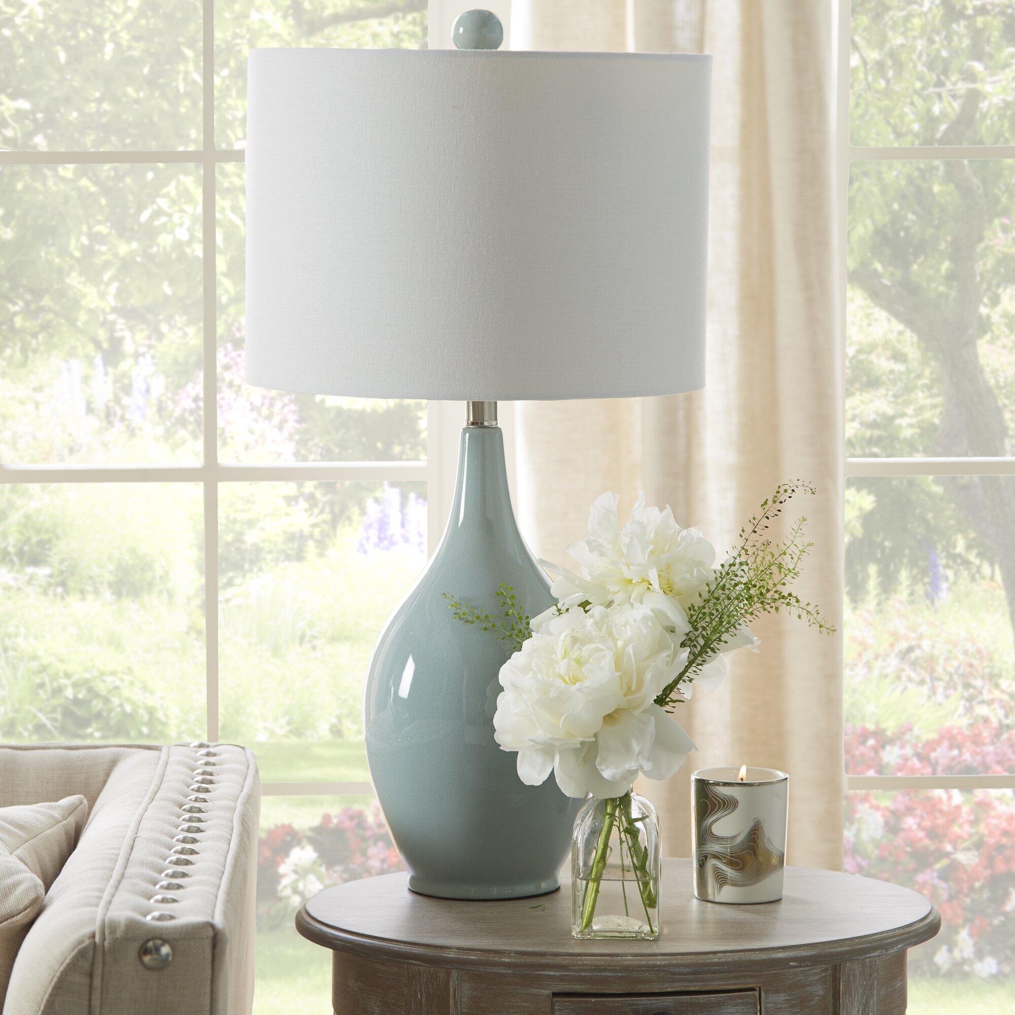 Contemporary orange table lamps - Miltiades 27 Table Lamp