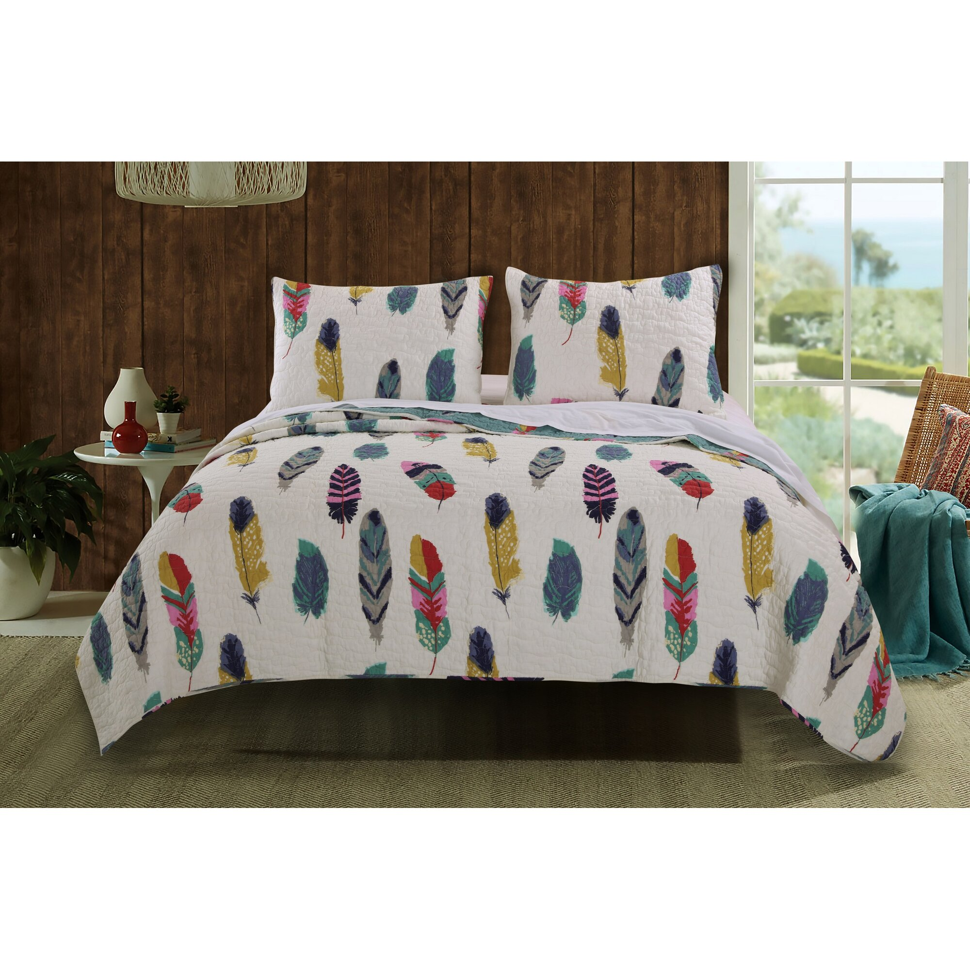 Greenland Home Fashions Dream Catcher Reversible Quilt Set