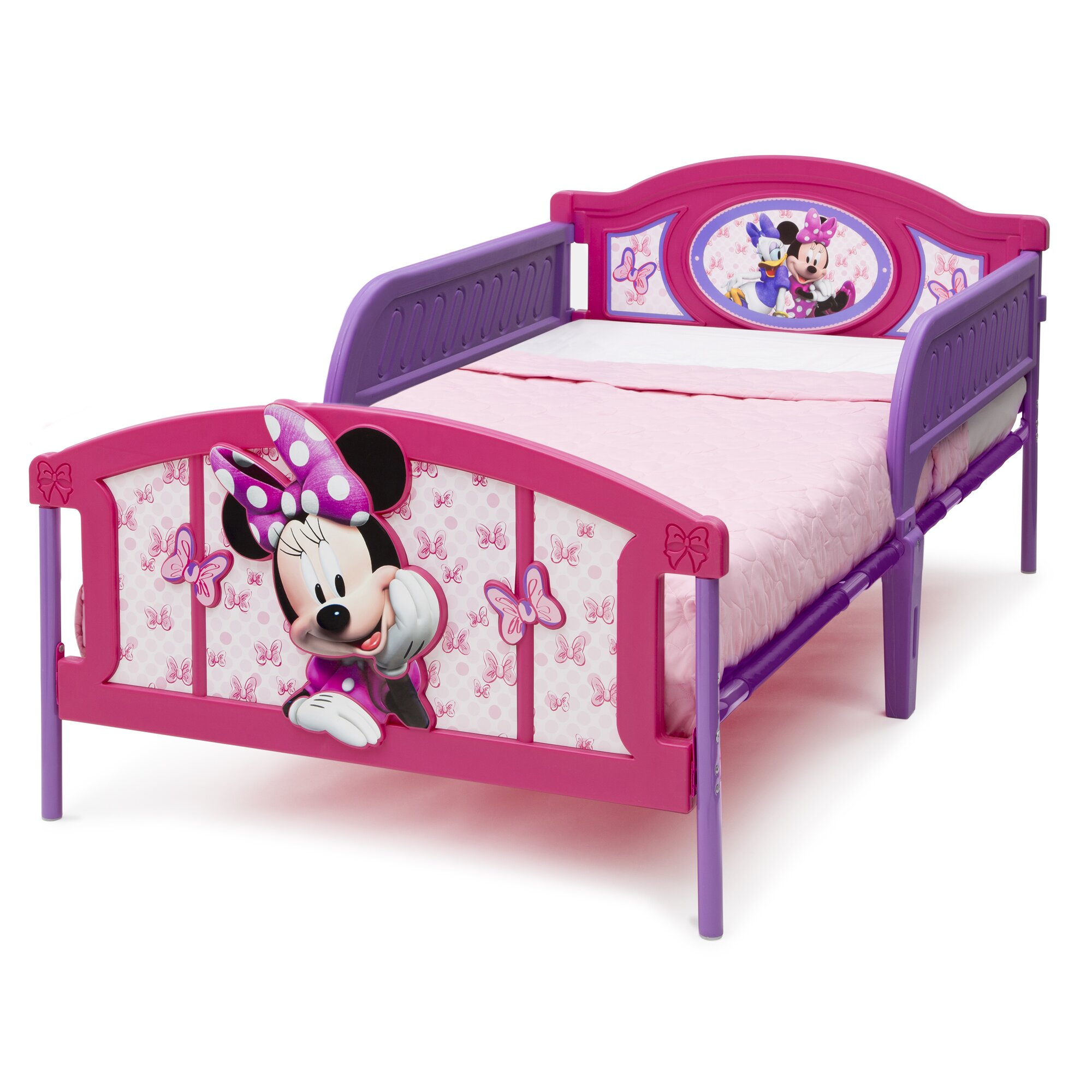 deltachildren bett minnie maus mitgel ndern 100 cm x 190 cm. Black Bedroom Furniture Sets. Home Design Ideas