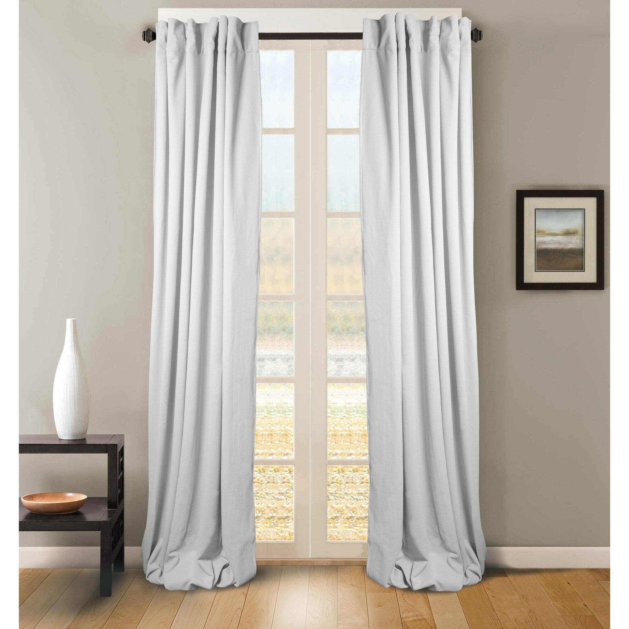 Red Barrel Studio Sigmon Solid Semi Sheer Curtain Panels Reviews