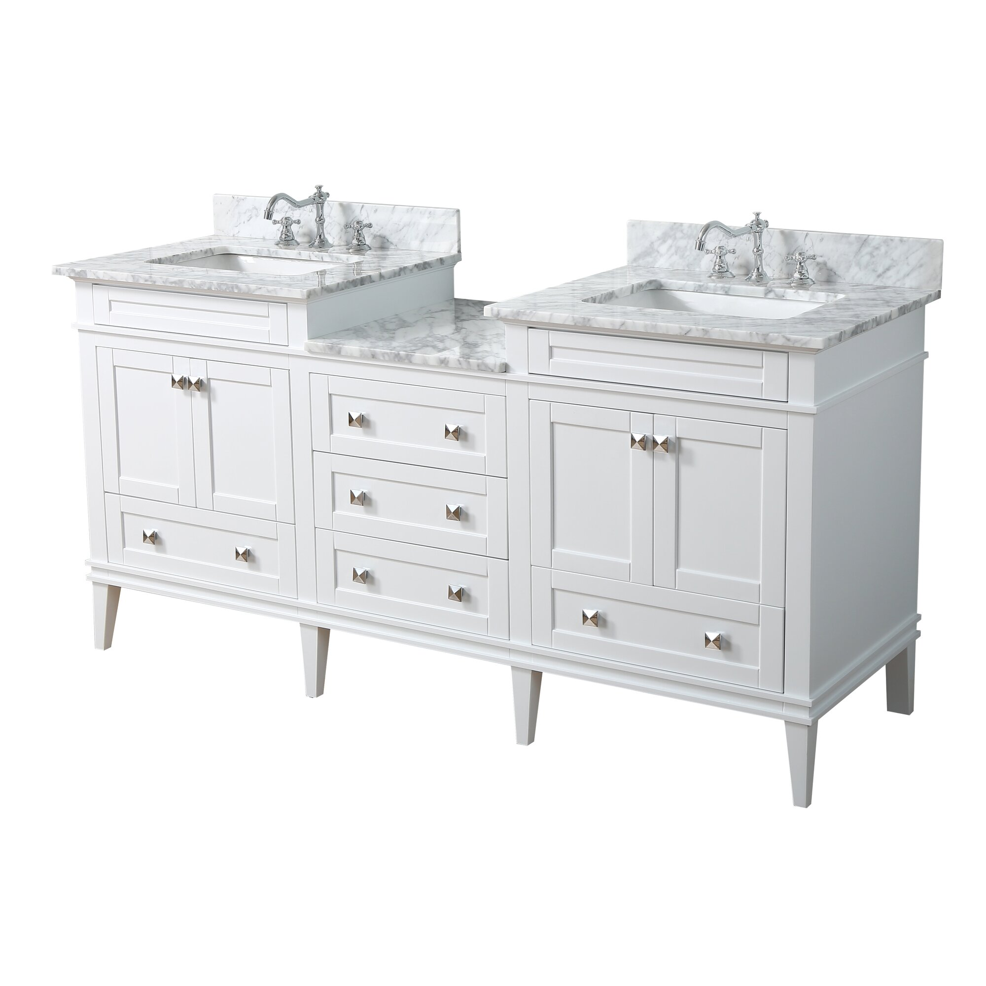 Kbc Eleanor 72 Quot Double Bathroom Vanity Set Amp Reviews Wayfair