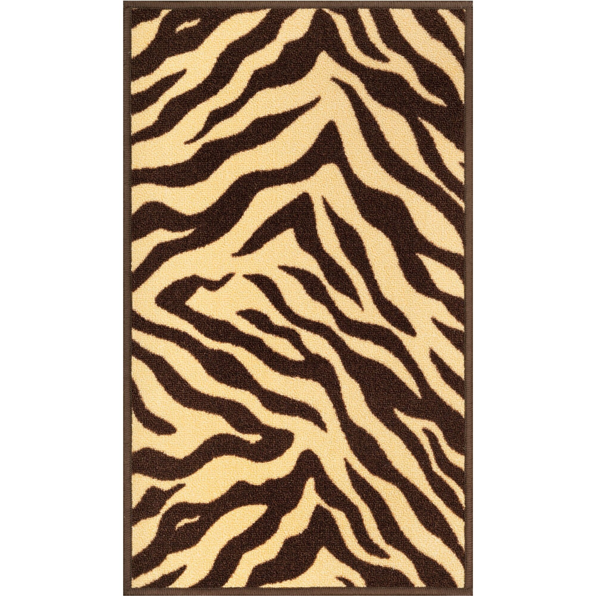 Well Woven Kings Court Brown Zebra Animal Print Rug