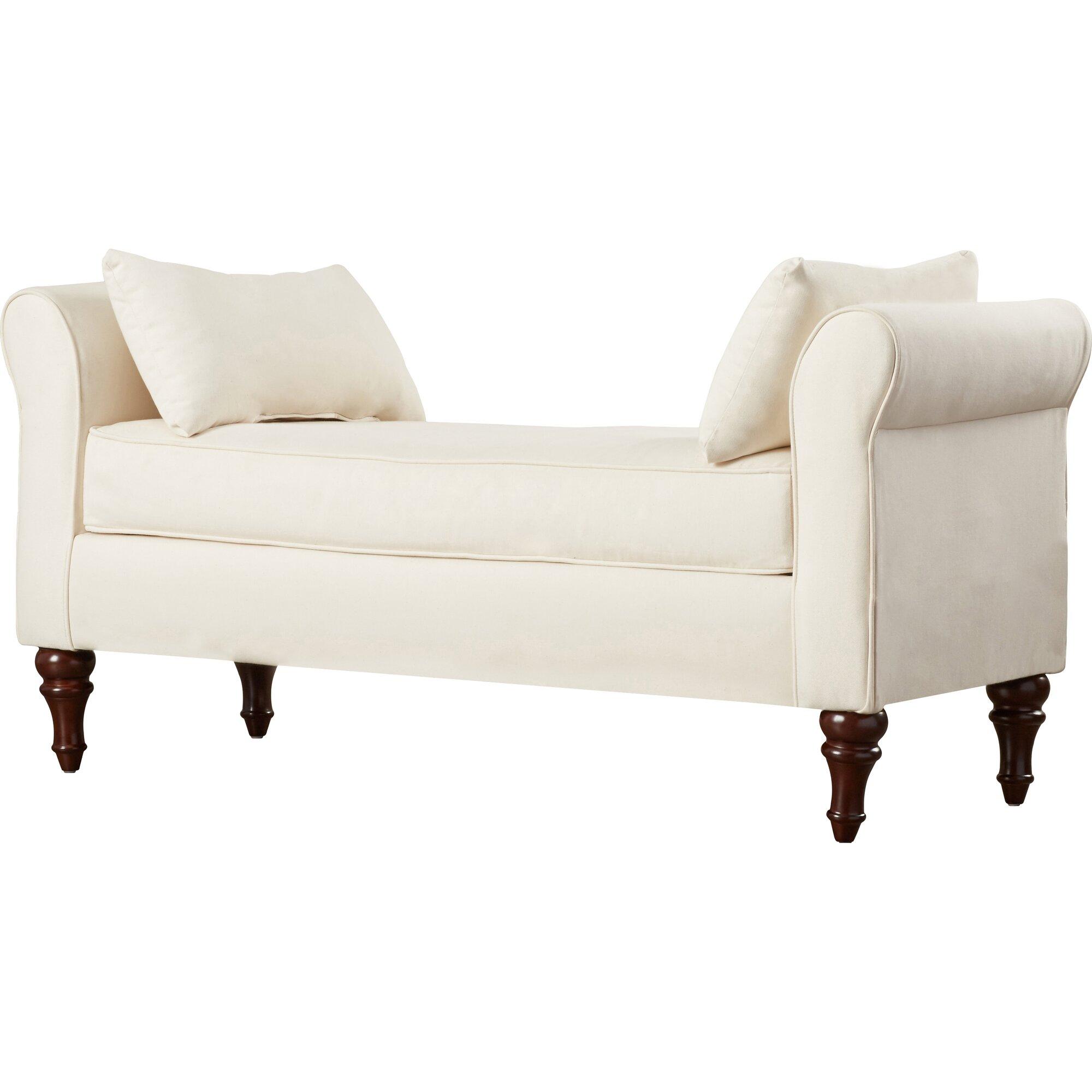 adelina roll arm bedroom bench reviews birch lane