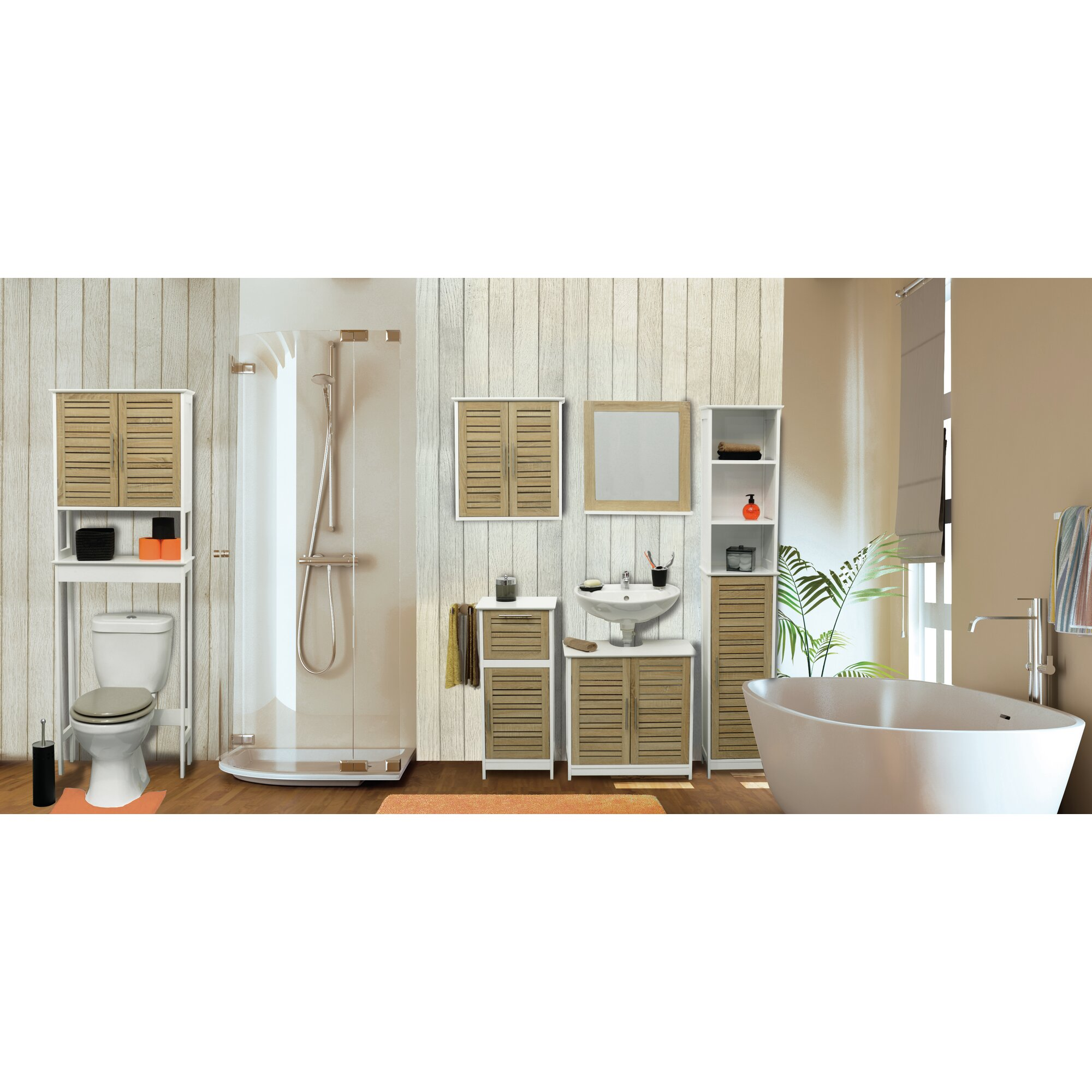 """Wayfair Free Standing Kitchen Cabinets: Evideco Stockholm 14.4"""" W X 32.7"""" H Cabinet & Reviews"""