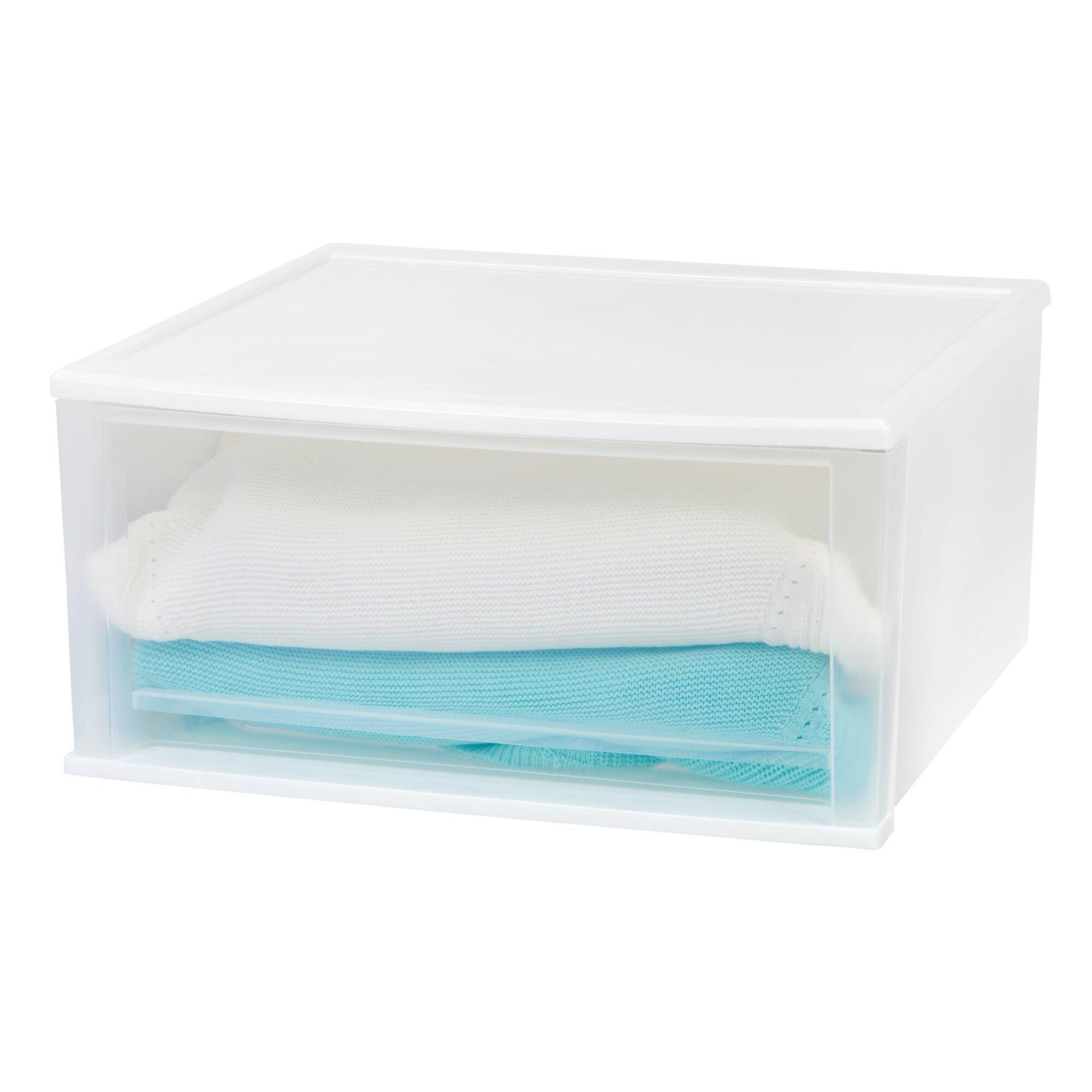 Iris 20 6 w stacking storage drawer reviews wayfair - Stackable 20desk 20organizer ...