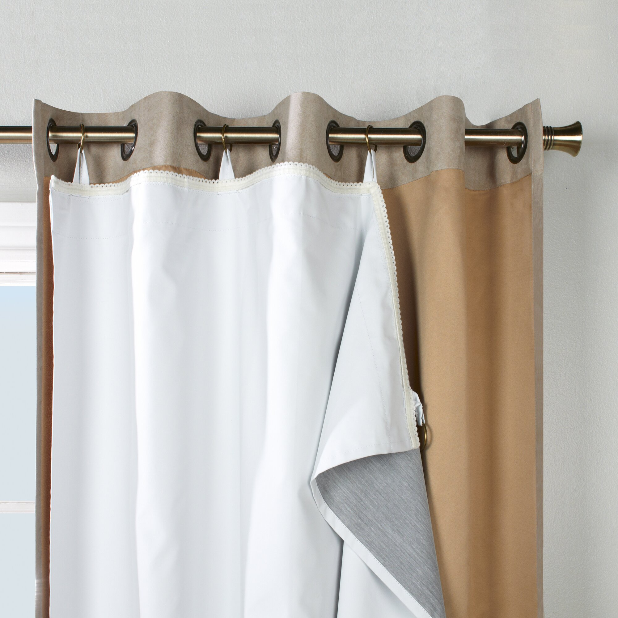 Alcott Hill Dorset Solid Sheer Thermal Grommet Curtain