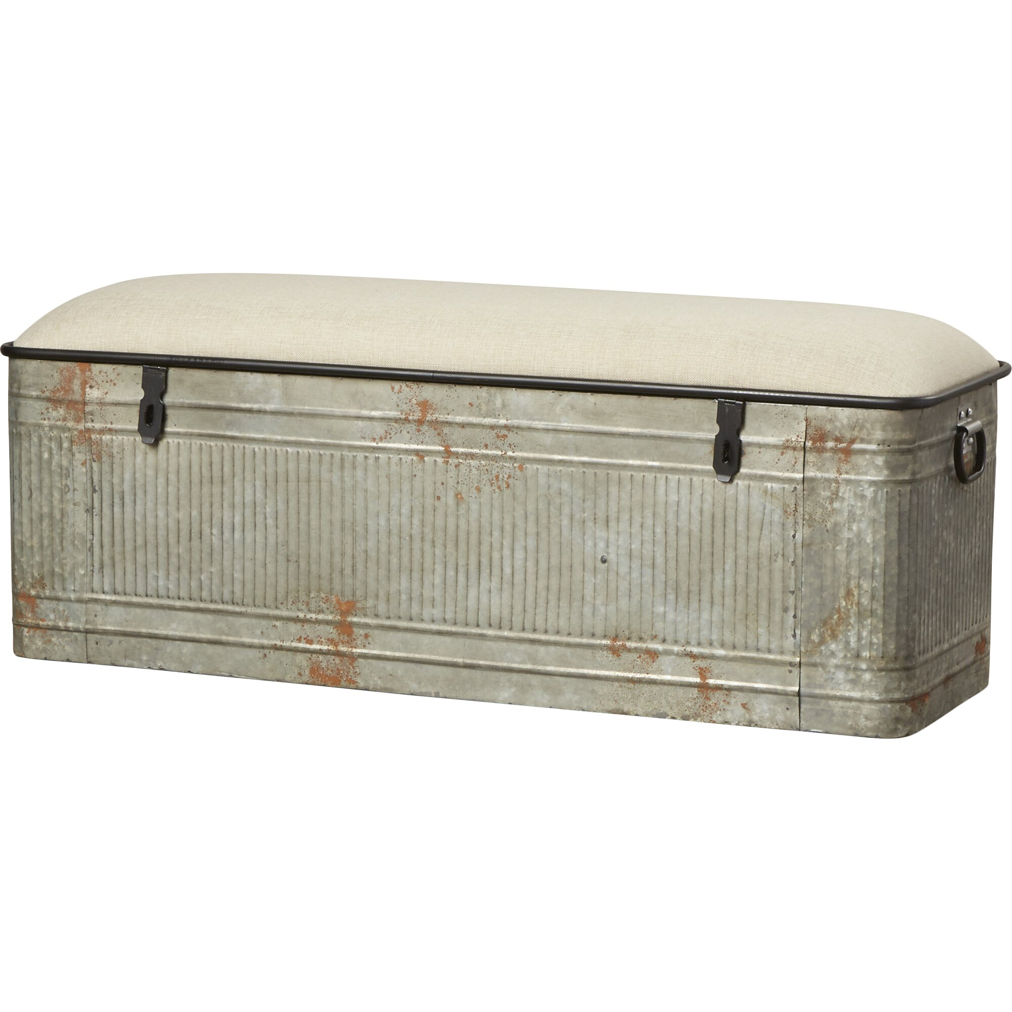 Dublin Metal Storage Bedroom Bench Reviews Birch Lane