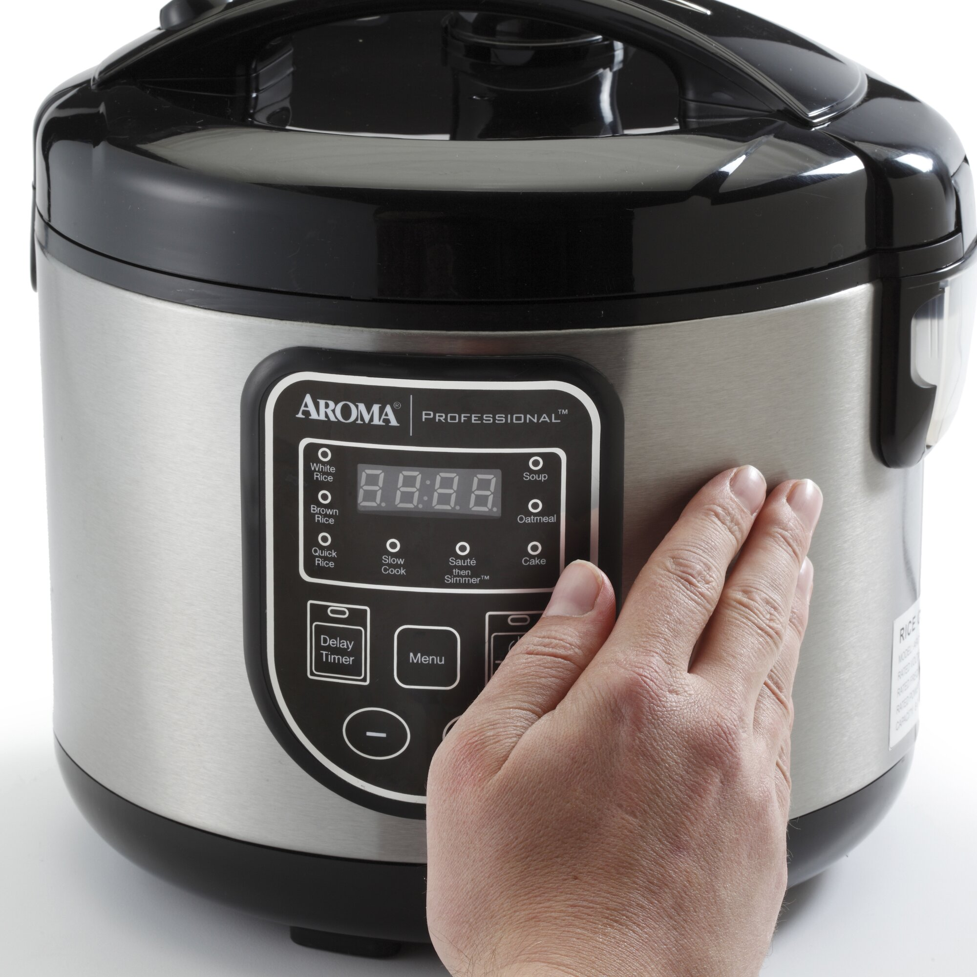 aroma 16 cup professional digital rice cooker slow cooker. Black Bedroom Furniture Sets. Home Design Ideas