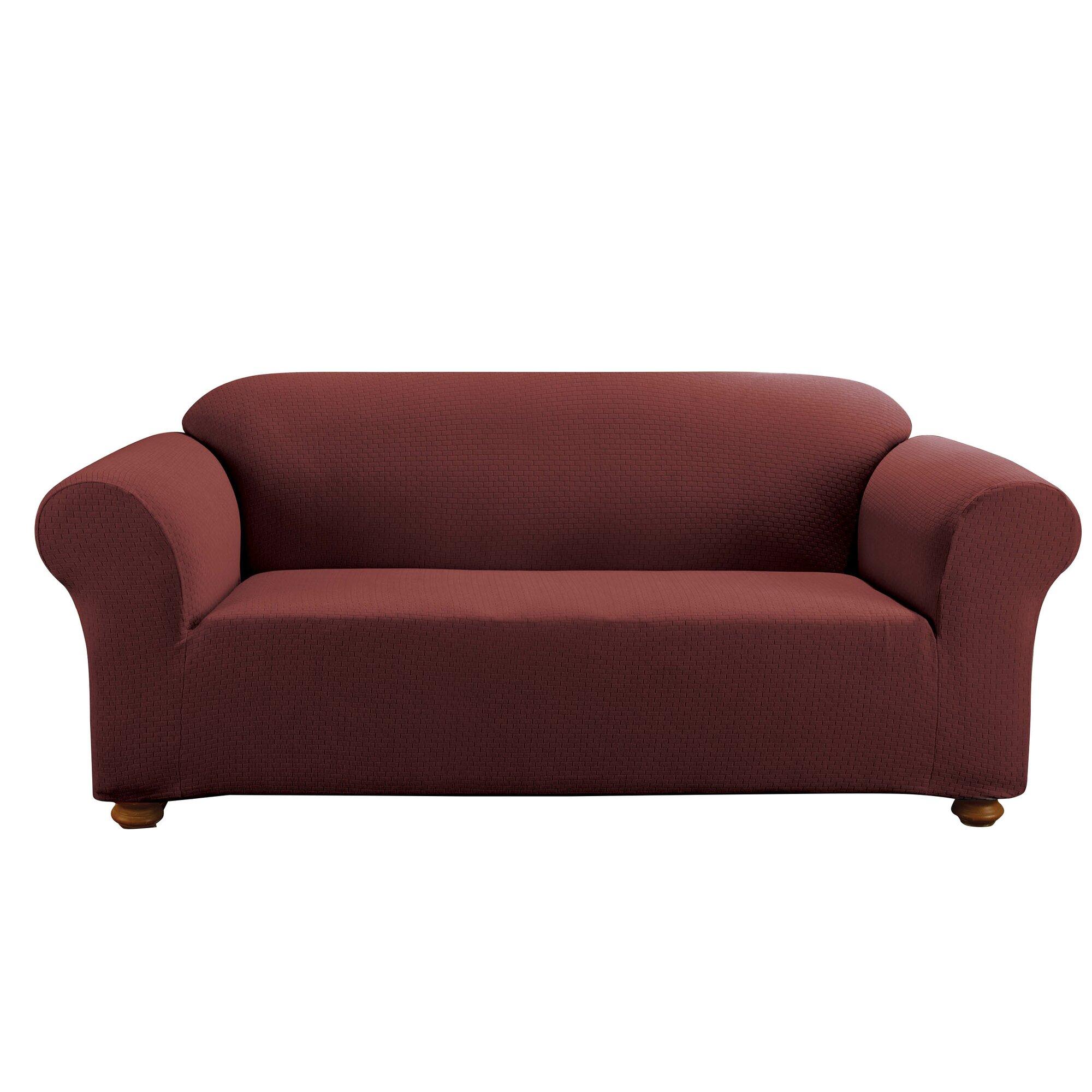 Sure Fit Simple Stretch Subway Sofa Box Cushion Slipcover  : SimpleStretchSubwaySofaBoxCushionSlipcover from www.wayfair.com size 2000 x 2000 jpeg 255kB