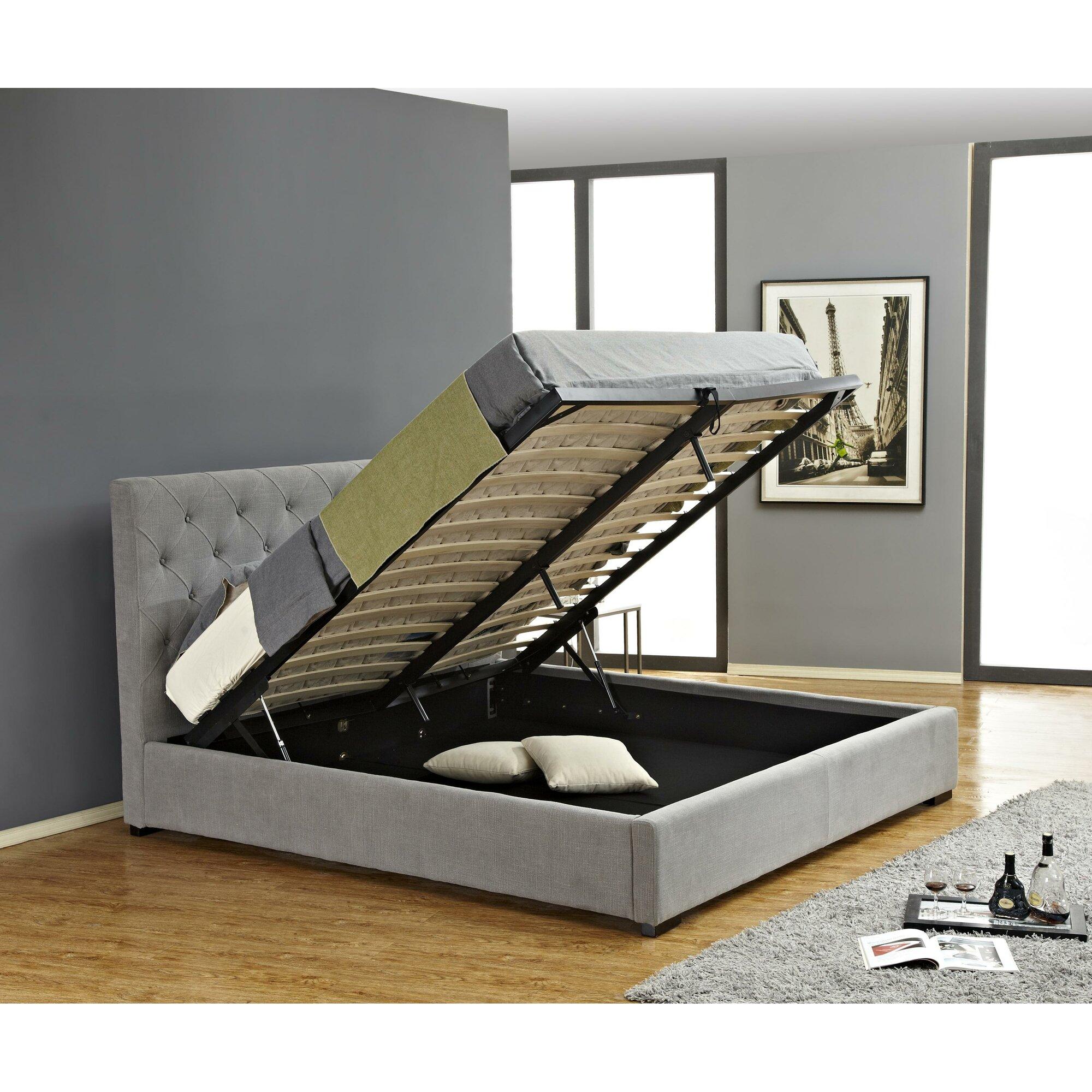 Upholstered Storage Platform Bed Amp Reviews Allmodern