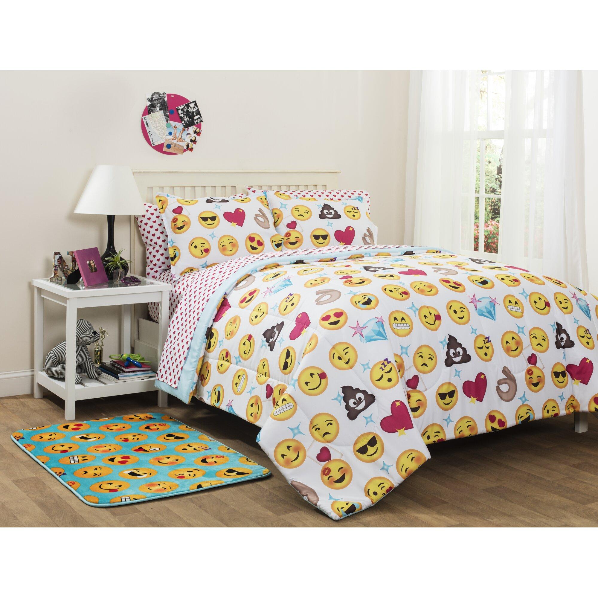 Idea Nuova Emoji Pals Reversible Comforter Set Amp Reviews