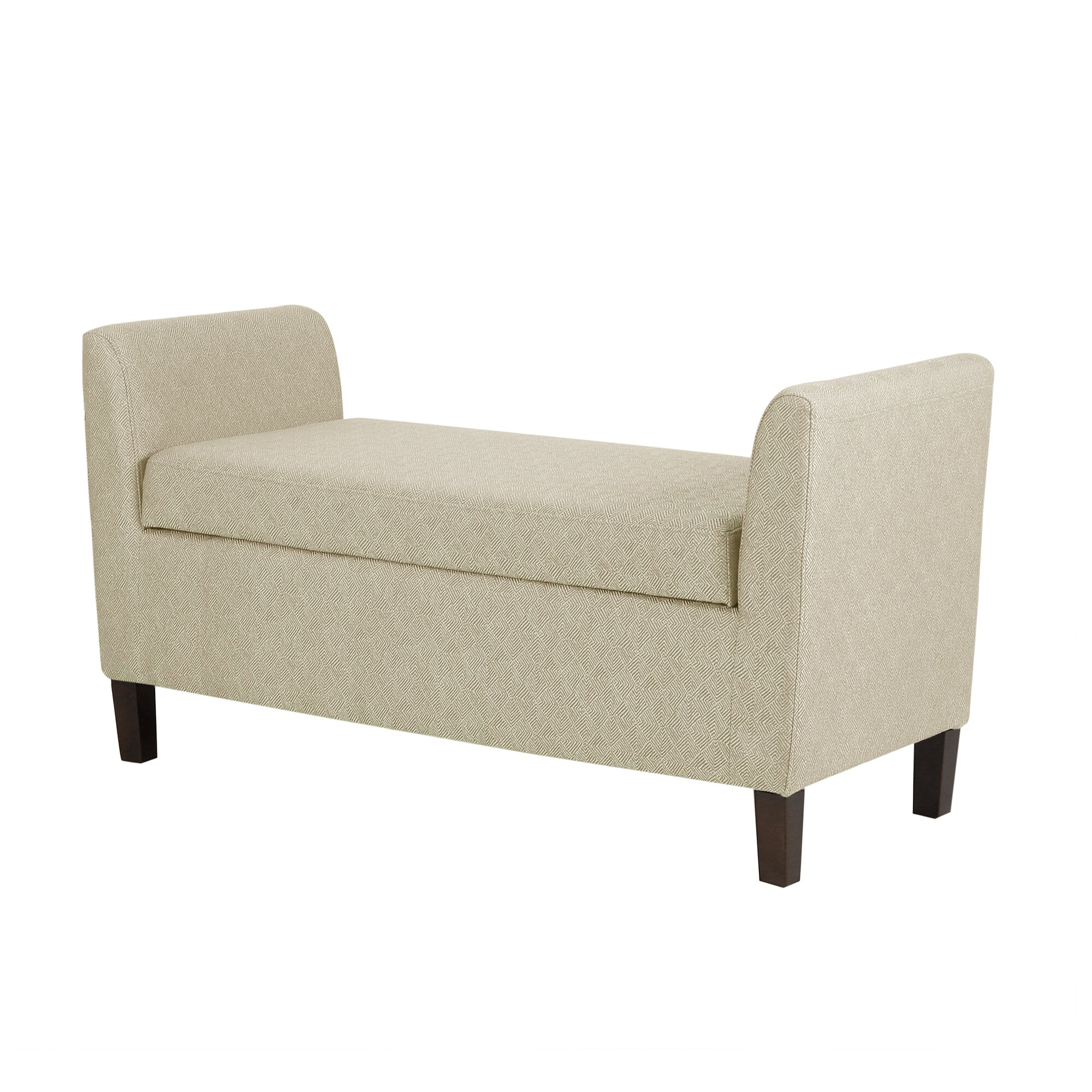 Bedroom bench with arms - Craig Upholstered Storage Bedroom Bench