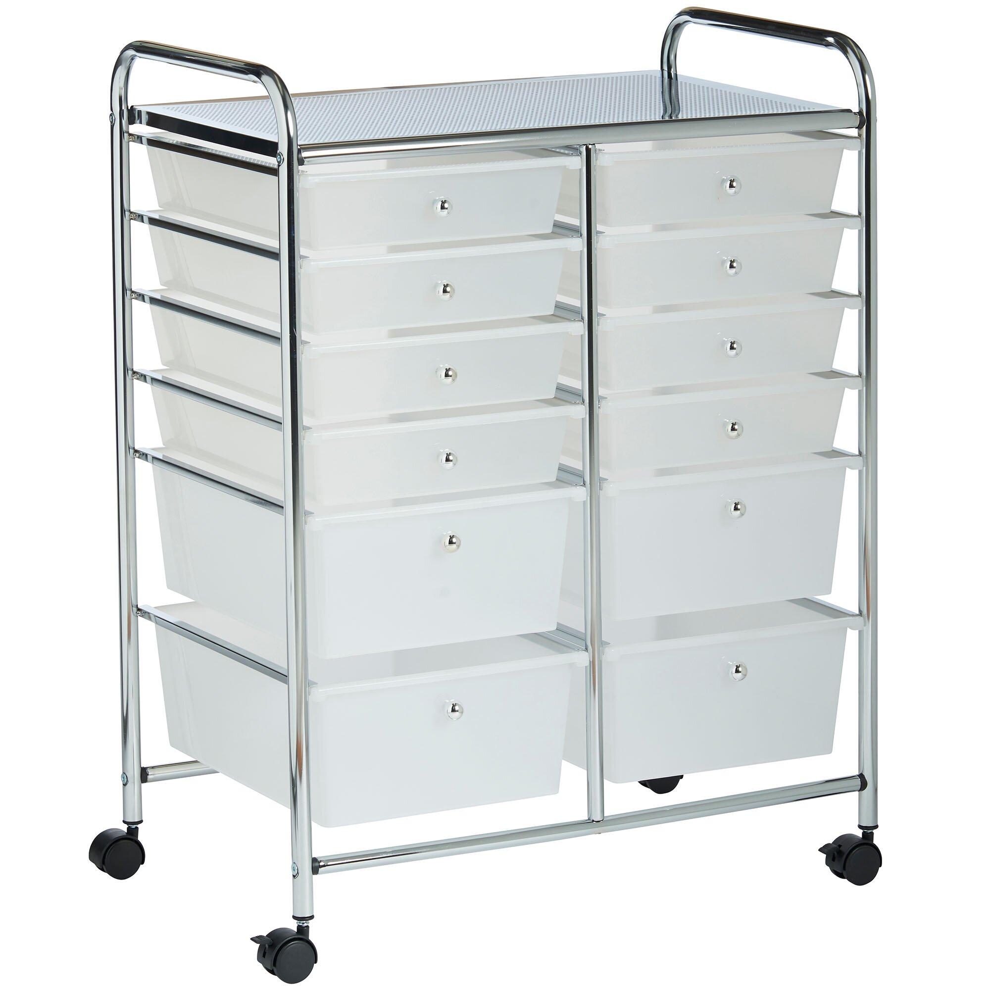 vonhaus 12 drawer rolling trolley storage organizer reviews wayfair. Black Bedroom Furniture Sets. Home Design Ideas