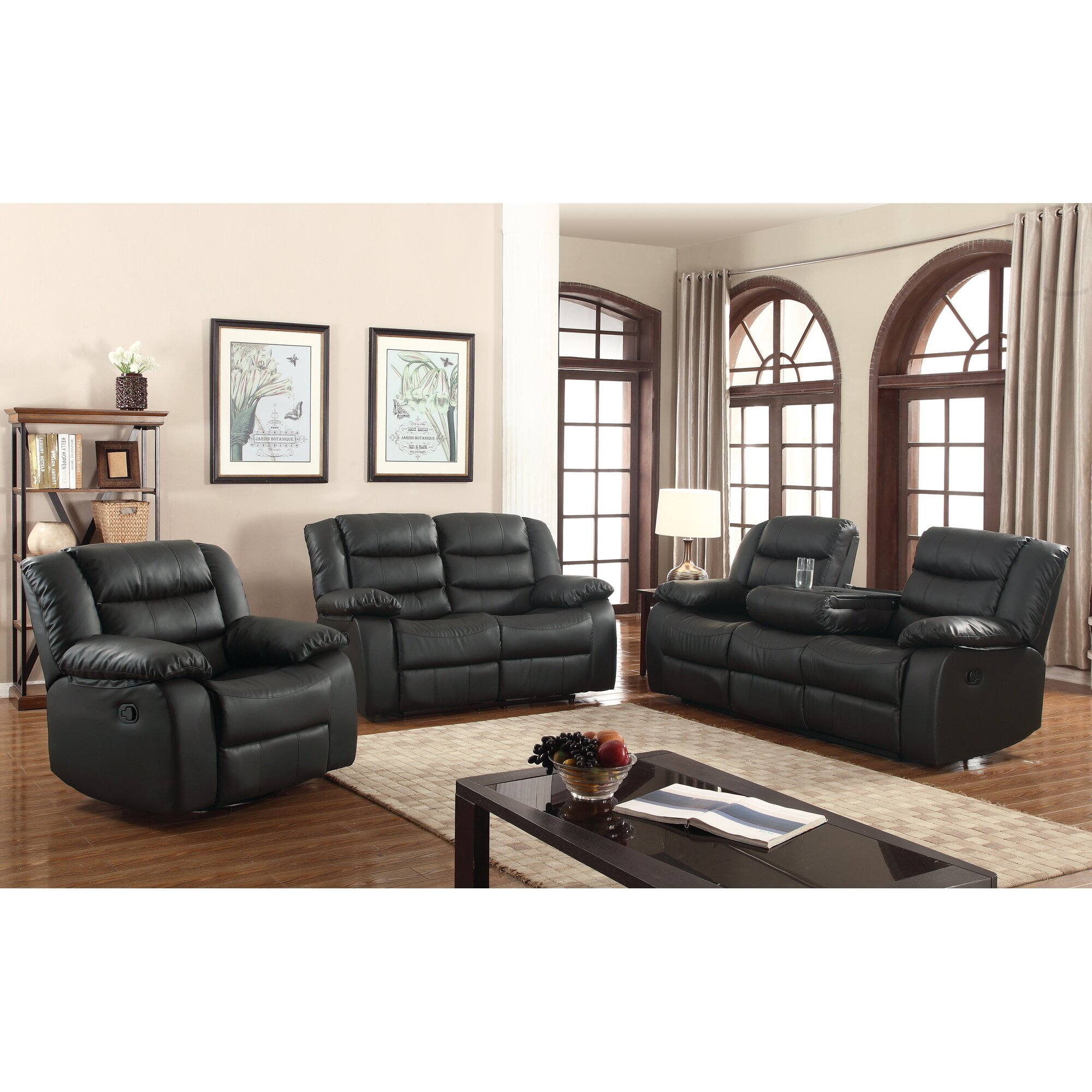 Living Room Sets: Living In Style Casta 3 Piece Living Room Set & Reviews