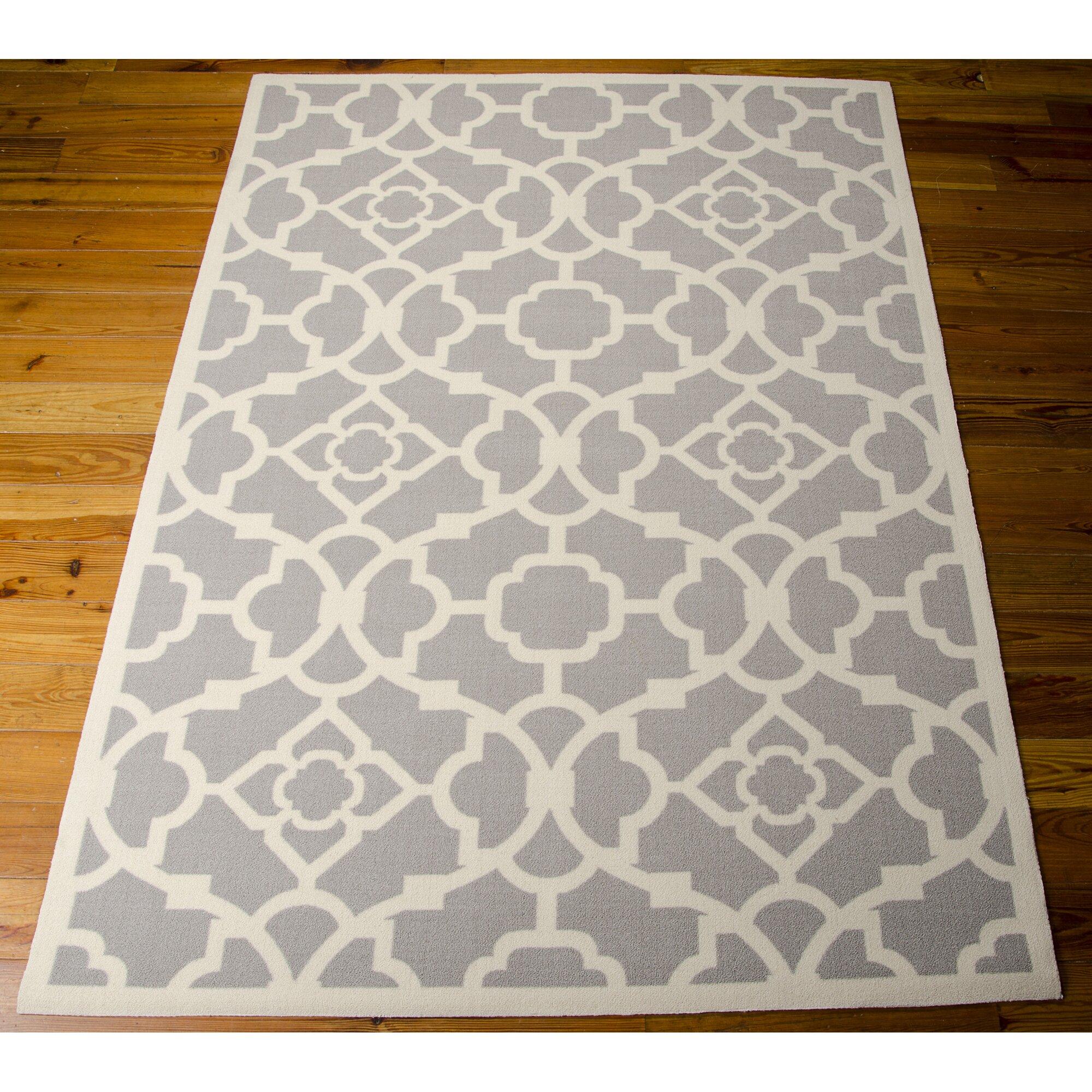 Kenton Gray White Indoor Outdoor Area Rug & Reviews
