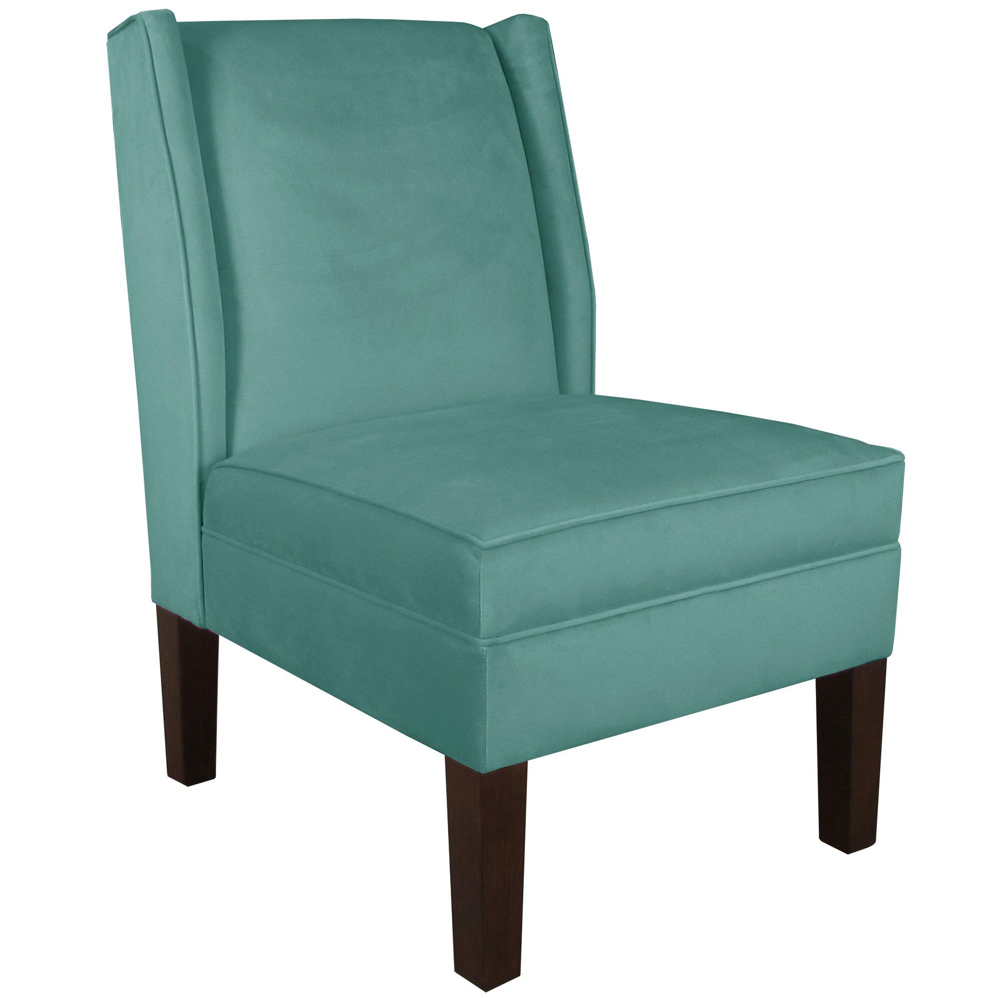 Velvet Blue Chair Instachair