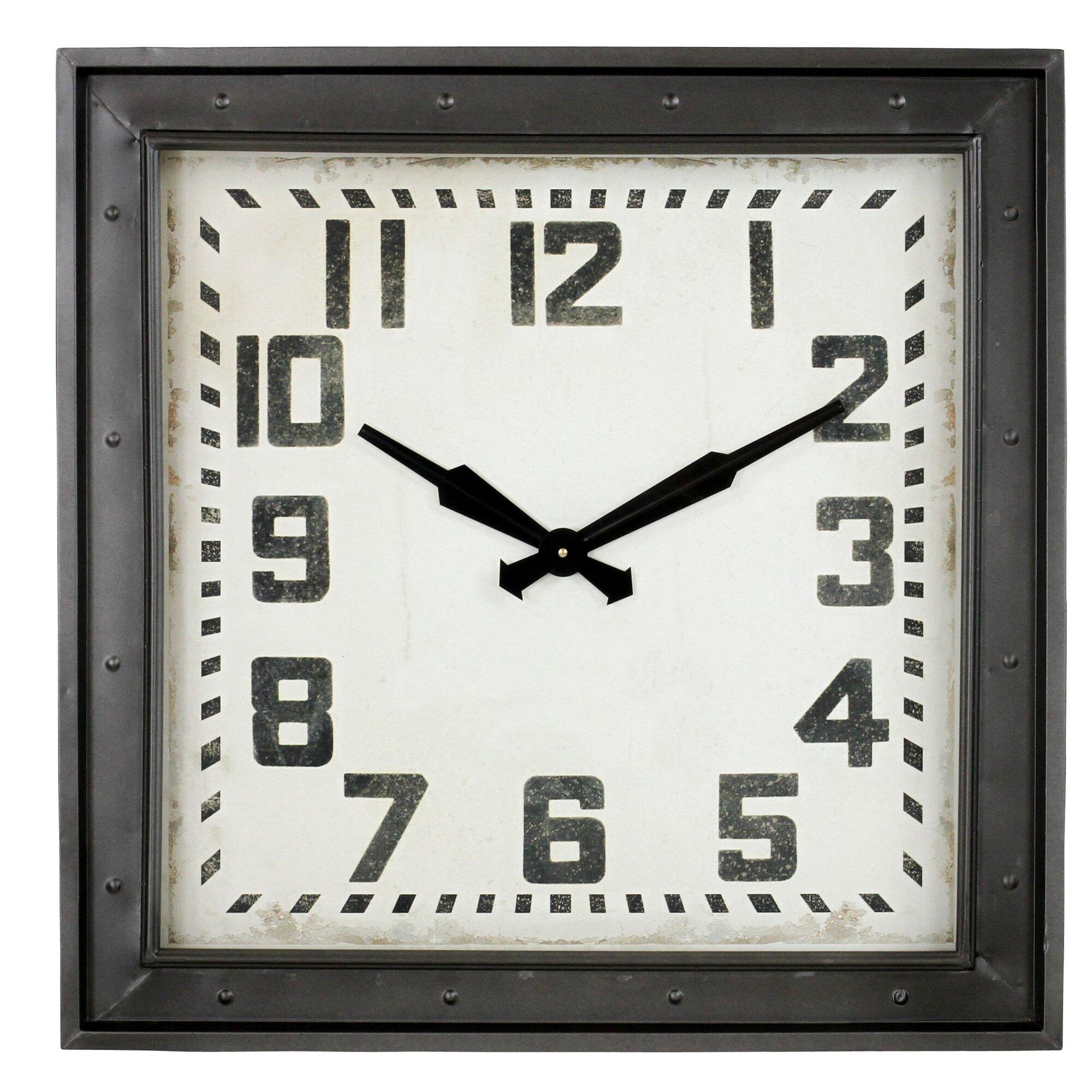 Westford Square Wall Clock Amp Reviews Birch Lane