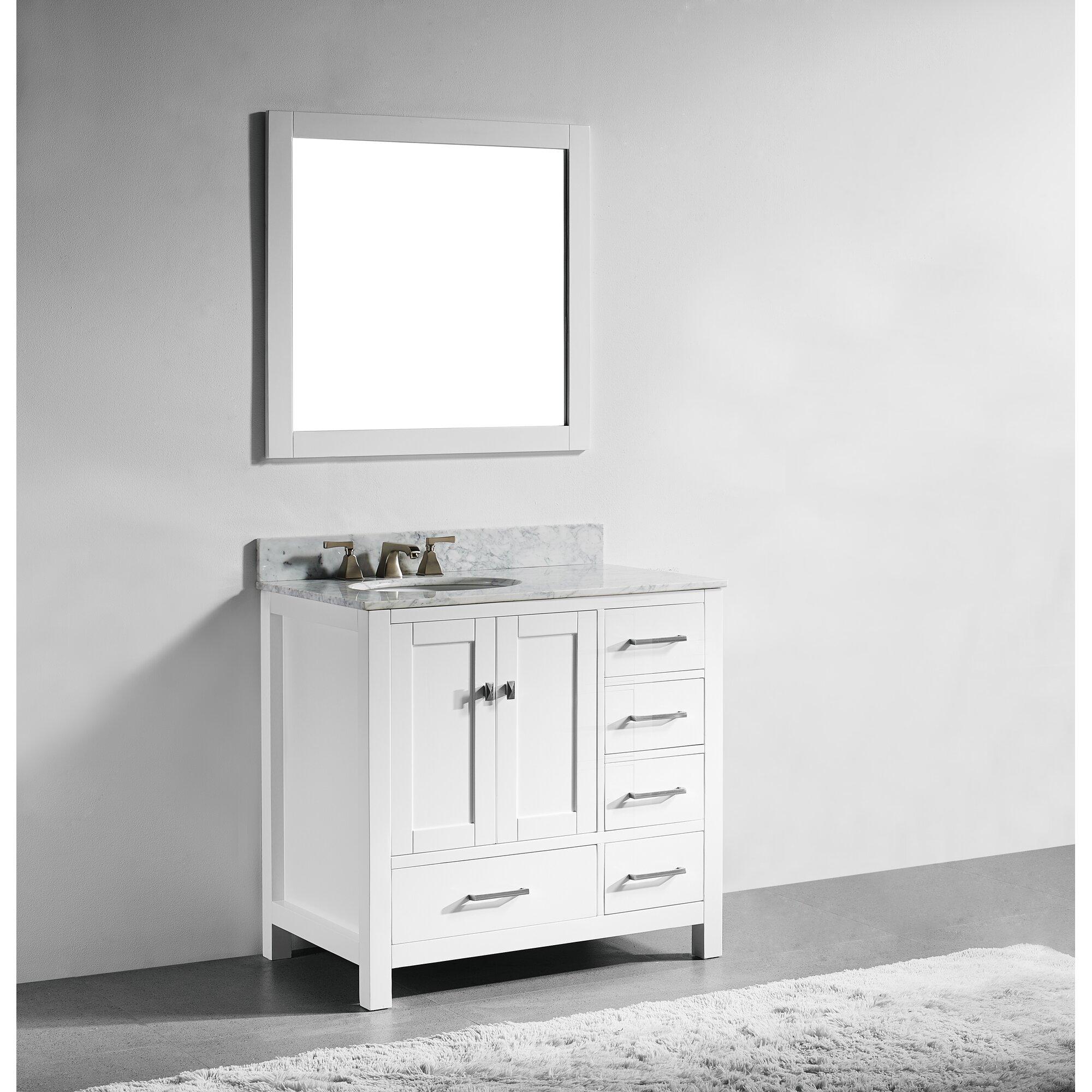 Innoci san clemente 36 single vanity set wayfair for Bathroom vanities in san diego