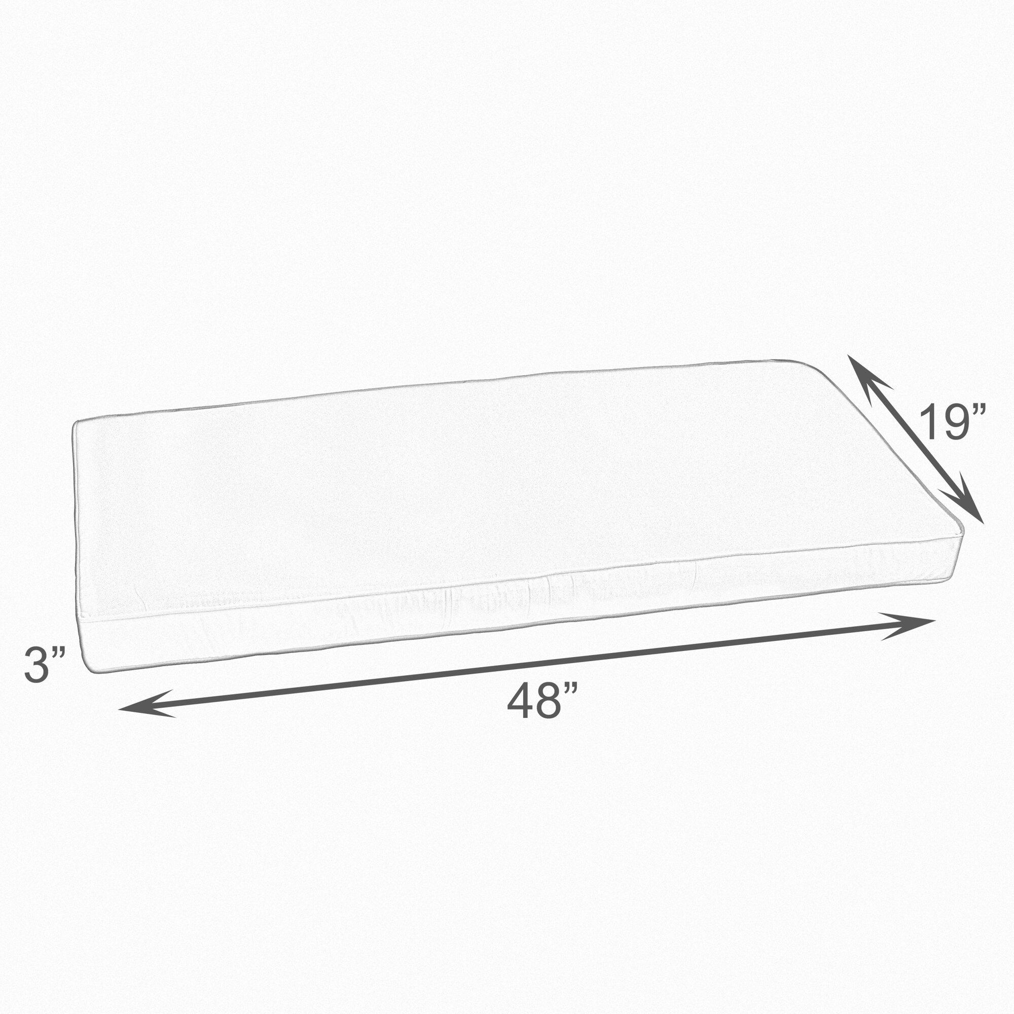 Outdoor Sunbrella Bench Cushion Reviews Joss Main