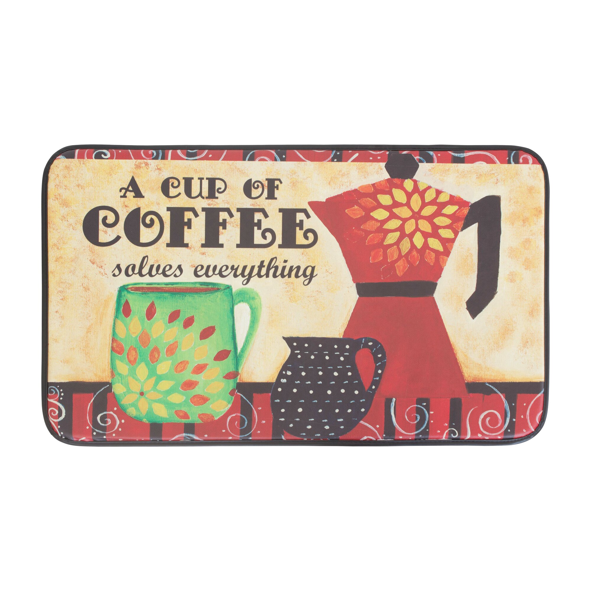 kitchen rugs with coffee cups on them kitchen design