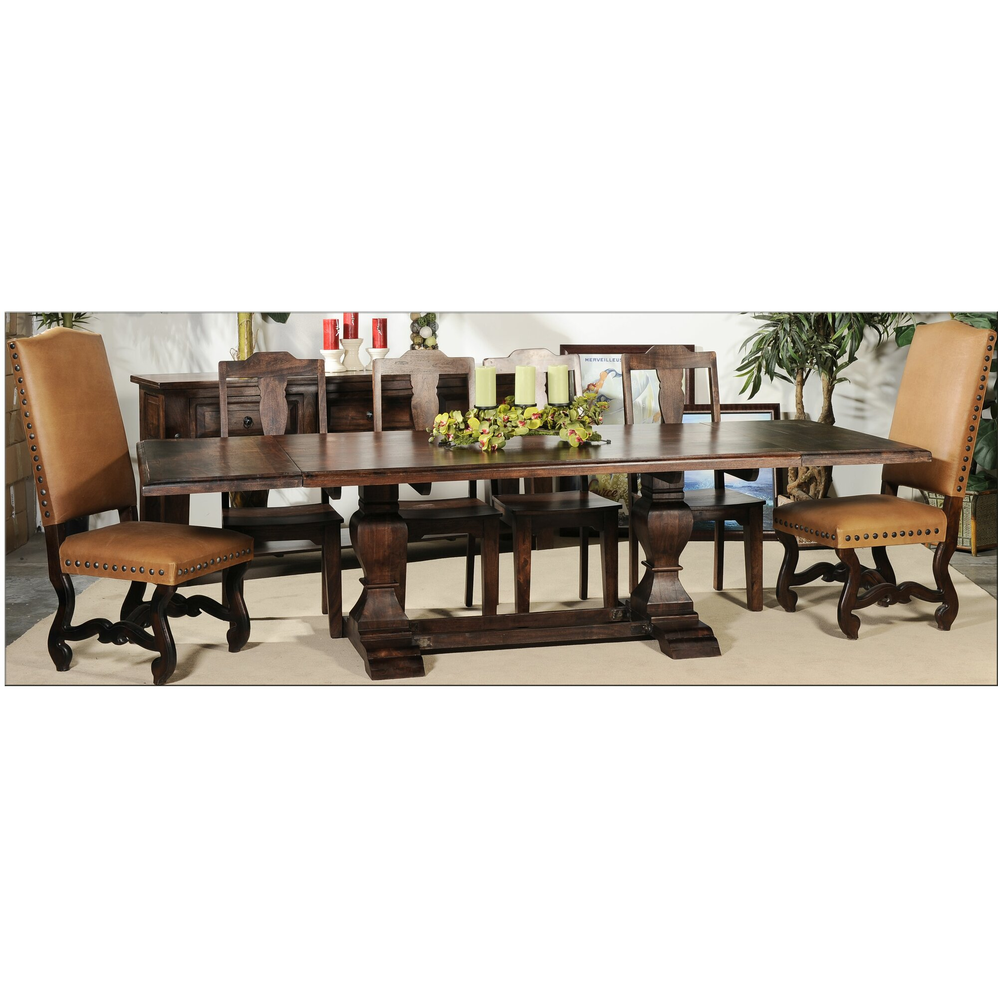 Aishni home furnishings castle extendable dining table for Find home furnishings