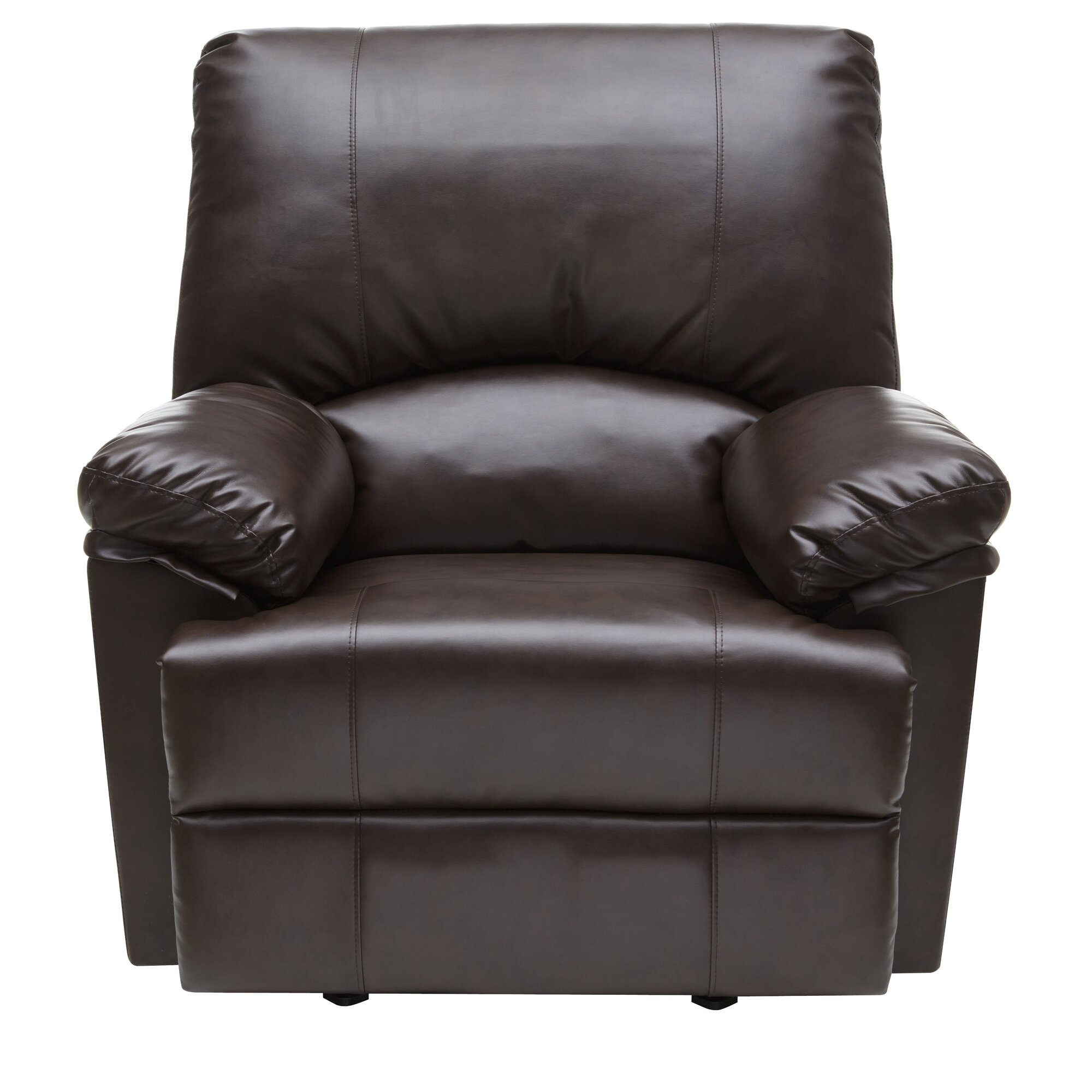 Relaxzen Marbled Leather Rocker Recliner With Heat And