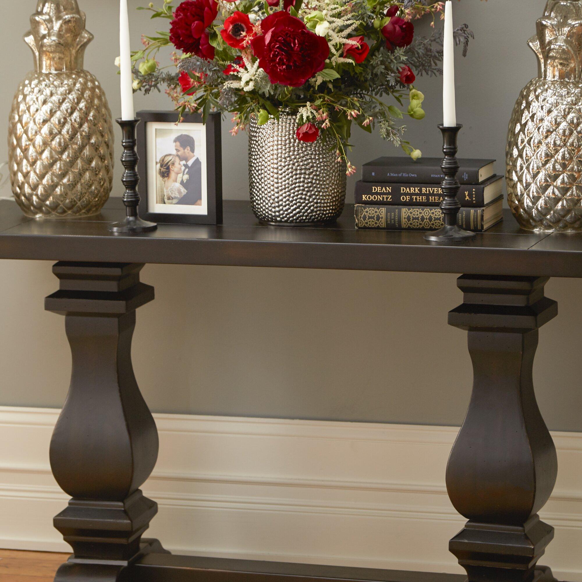 Foyer Table Vases : Rossington rectangular console table reviews birch lane