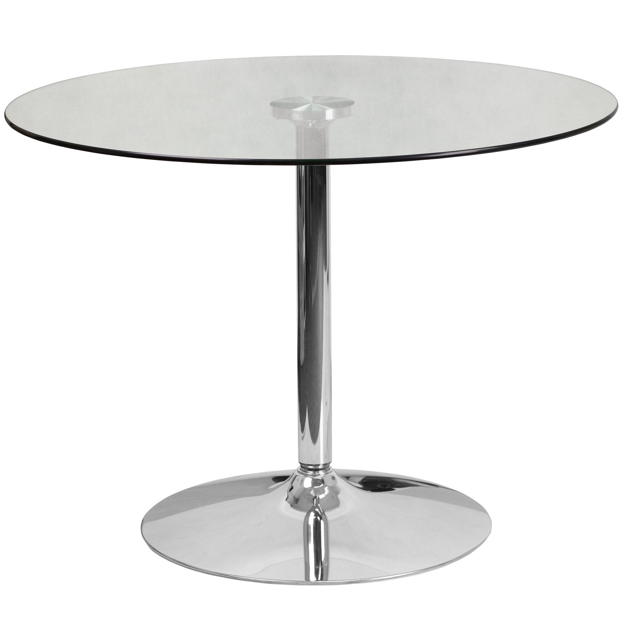 Flash Furniture Round Glass Dining Table Amp Reviews