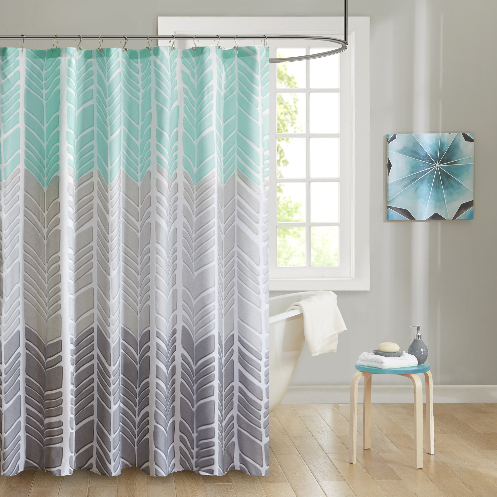 Shower Curtains Youll Love Wayfair - Mint green shower curtain