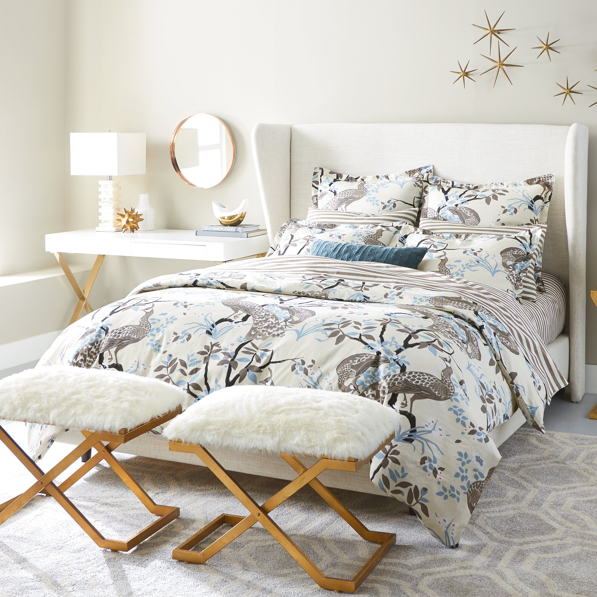 dwellstudio peacock dove duvet cover reviews dwellstudio
