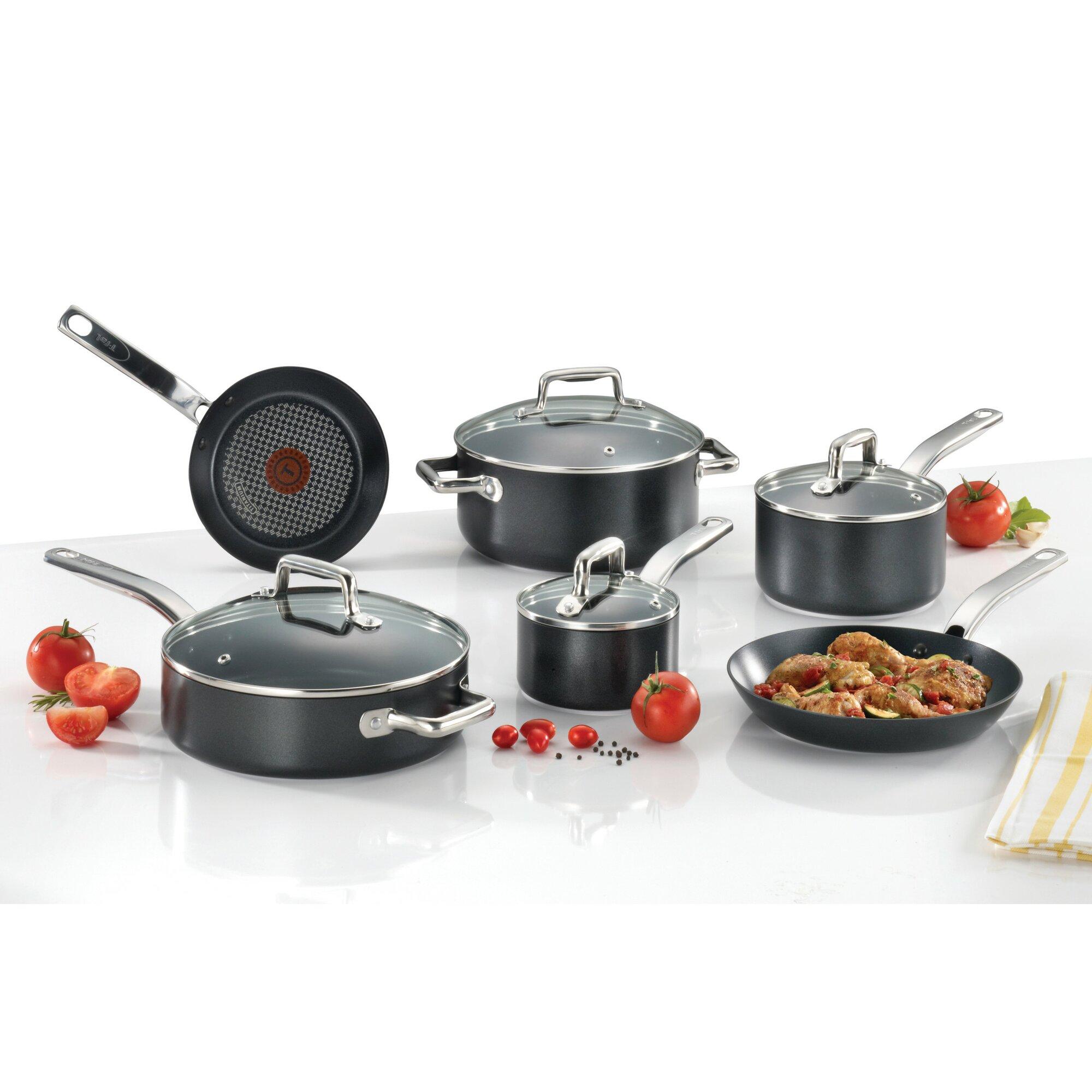T-fal ProGrade 10-Piece Non-Stick Cookware Set & Reviews | Wayfair