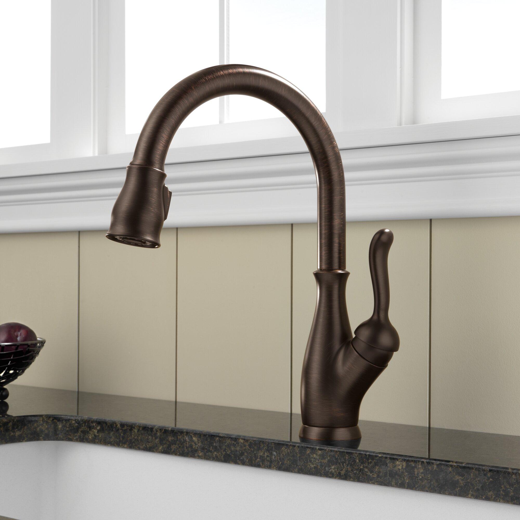 delta leland single handle pull down standard kitchen shop delta leland spotshield stainless 1 handle pull down