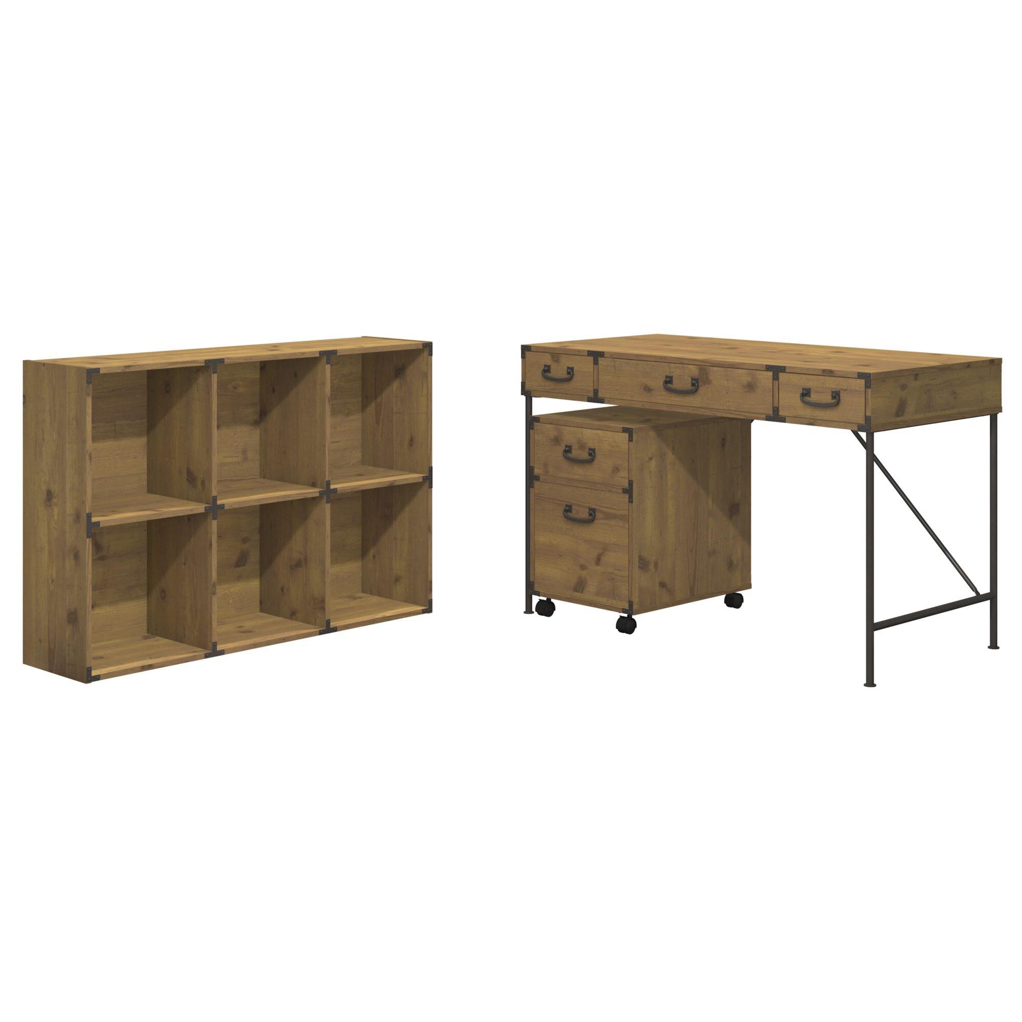 Kathy Ireland Office by Bush Ironworks 3 Piece Desk Office Suite u0026 Reviews : Wayfair
