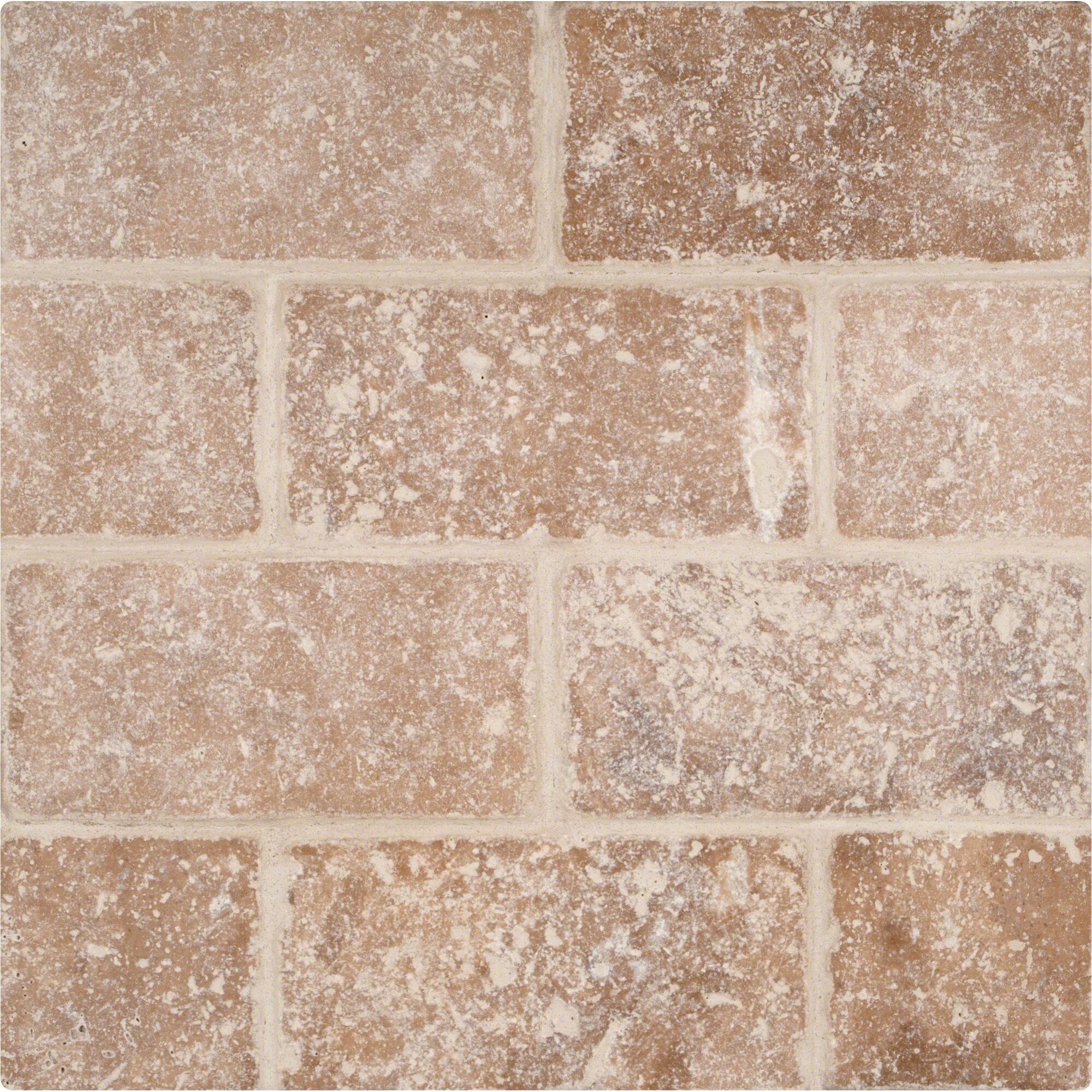 Msi tuscany walnut 3 x 6 39 39 travertine subway tile in for Tumbled glass tile