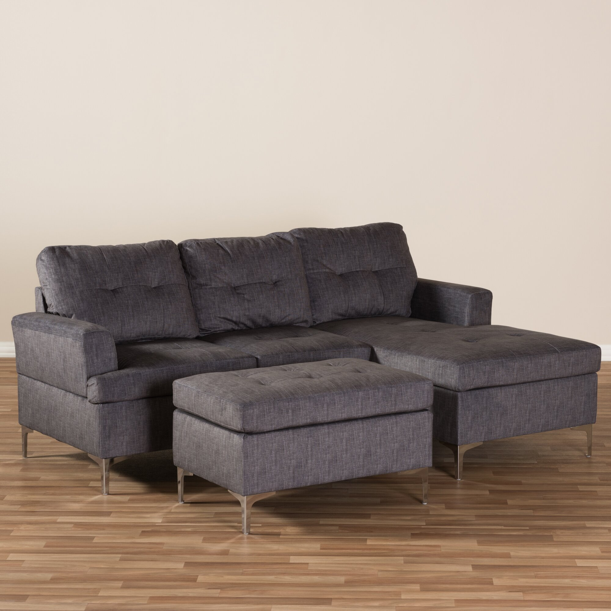 Discount Large Sectional Sofas: Wholesale Interiors Baxton Studio Rigina Sectional