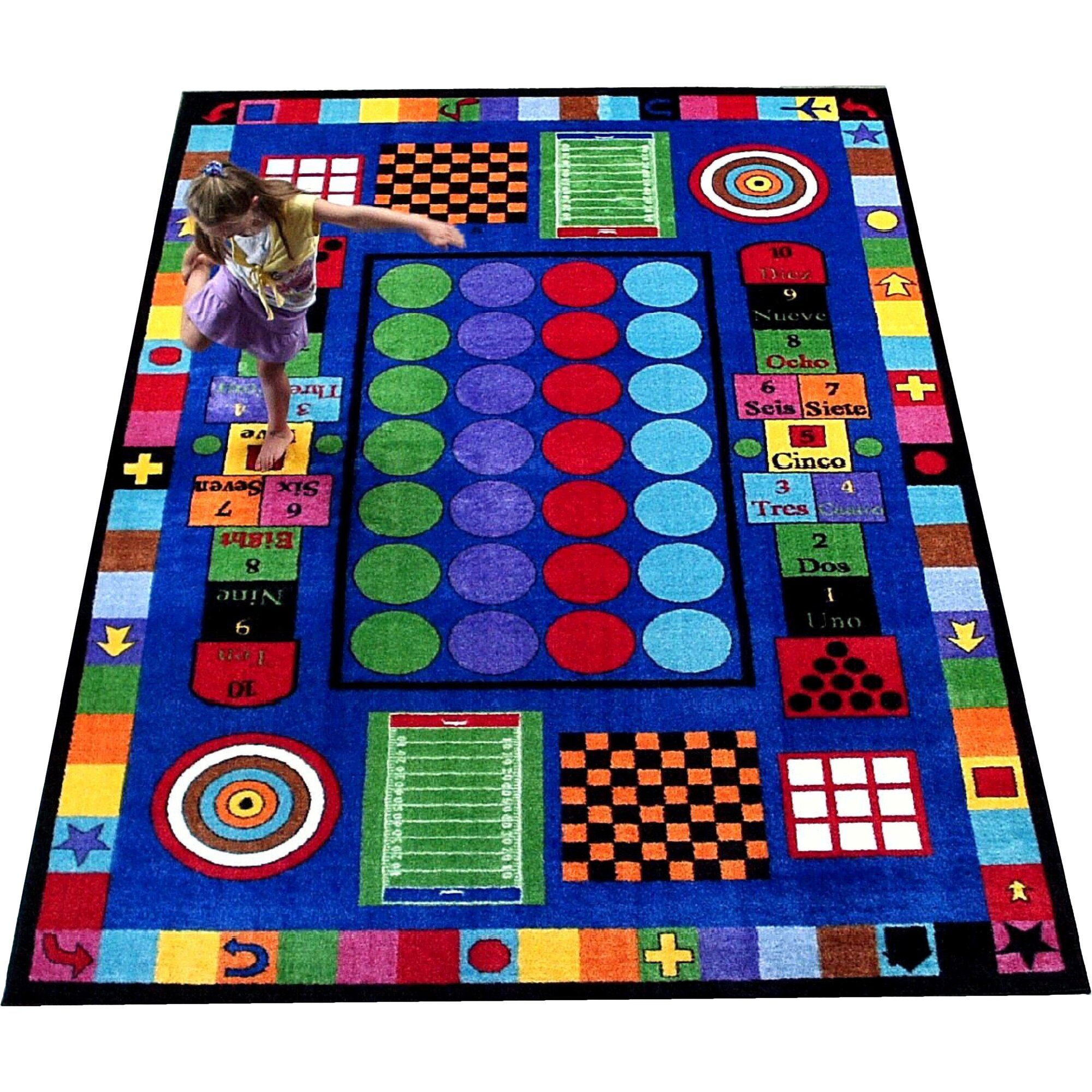 Kids World Game Time Area Rug & Reviews