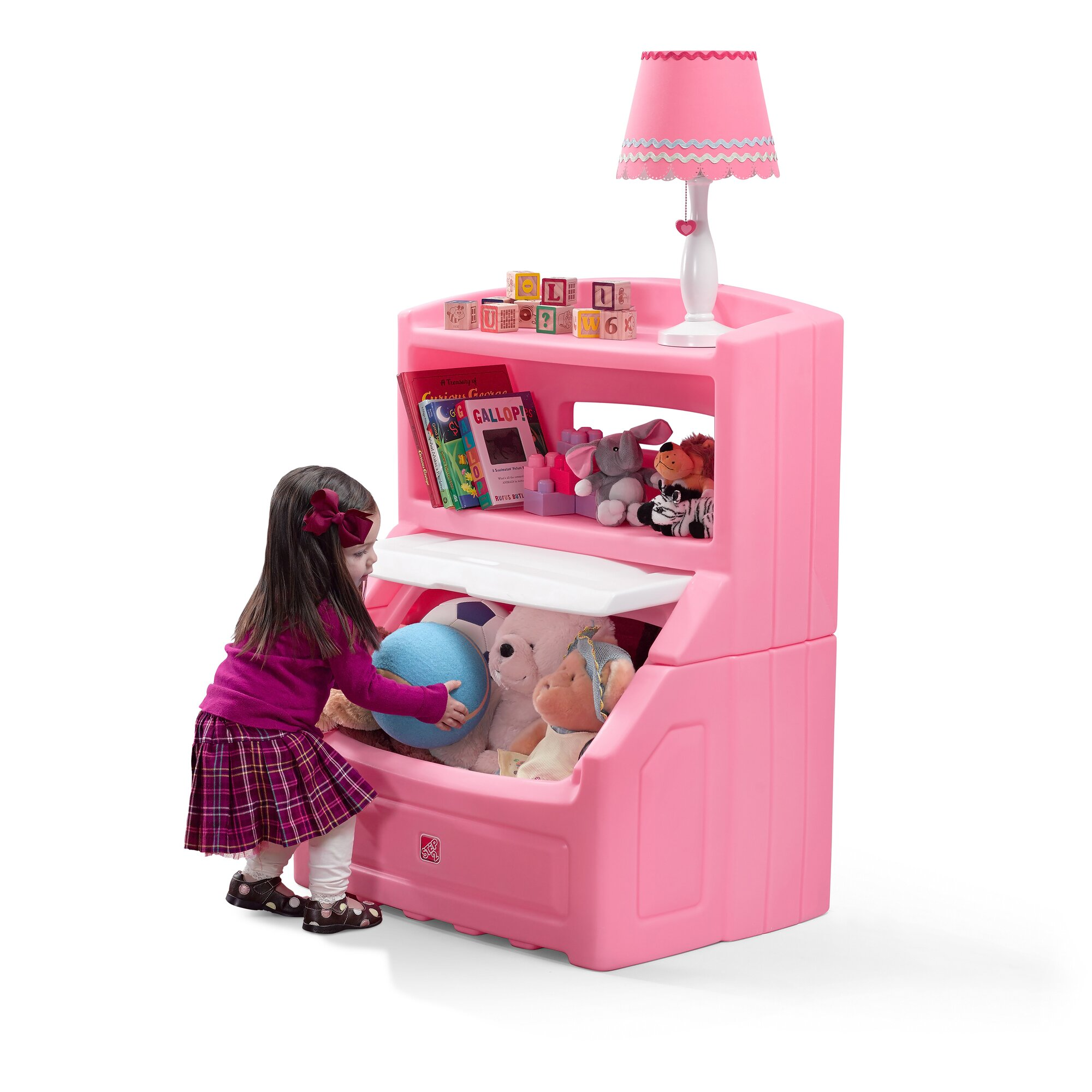 Step2 The Lift And Hide Bookcasetoy Storage Box Amp Reviews