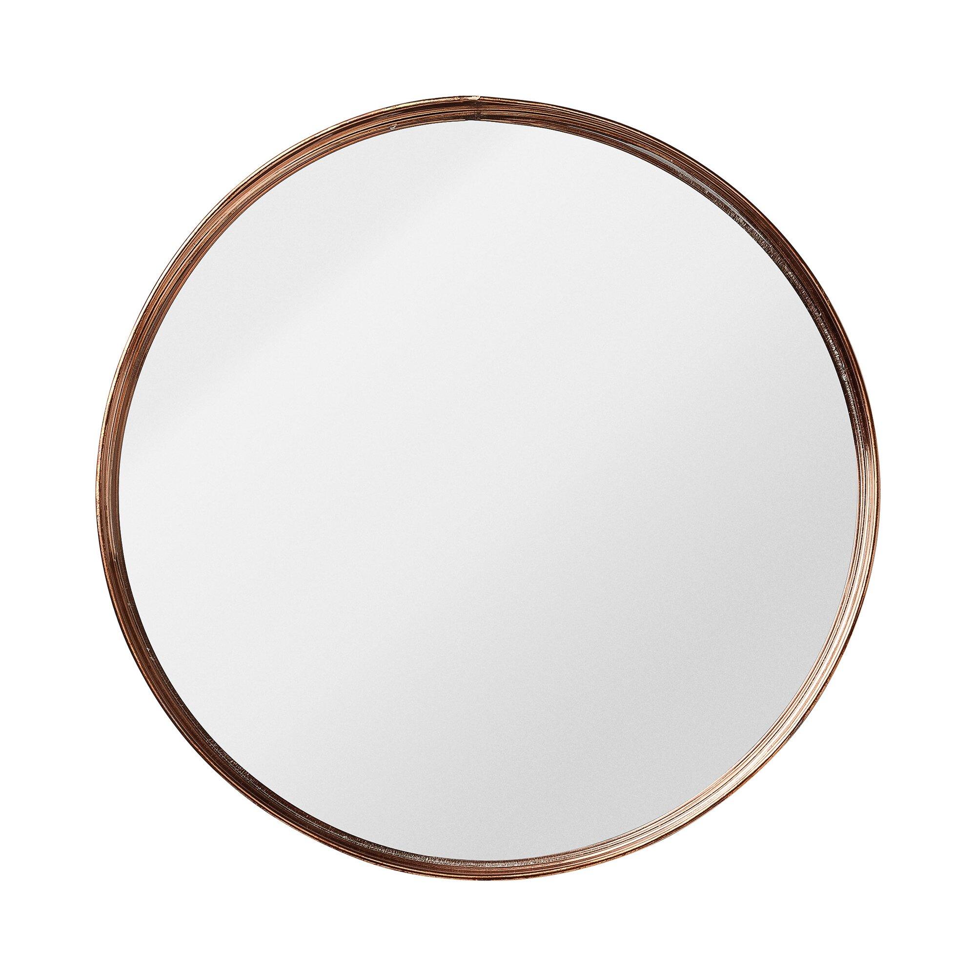 Shop Kitchen Faucets Bungalow Rose Nova Round Metal Framed Mirror Amp Reviews