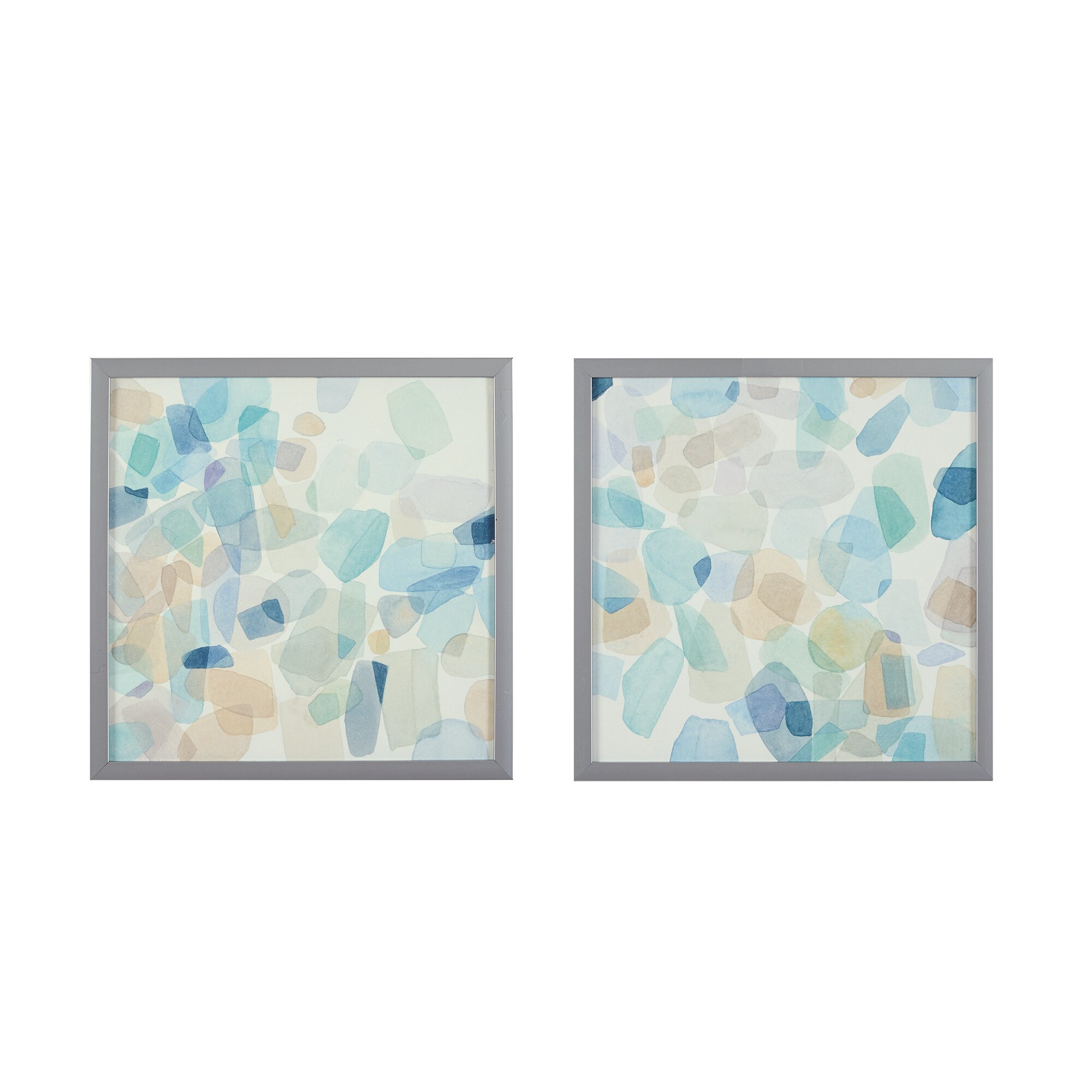 Kitchen Wall Decor Bed Bath And Beyond: Intelligent Design Gemstone Tiles Deco Box 2 Piece Framed