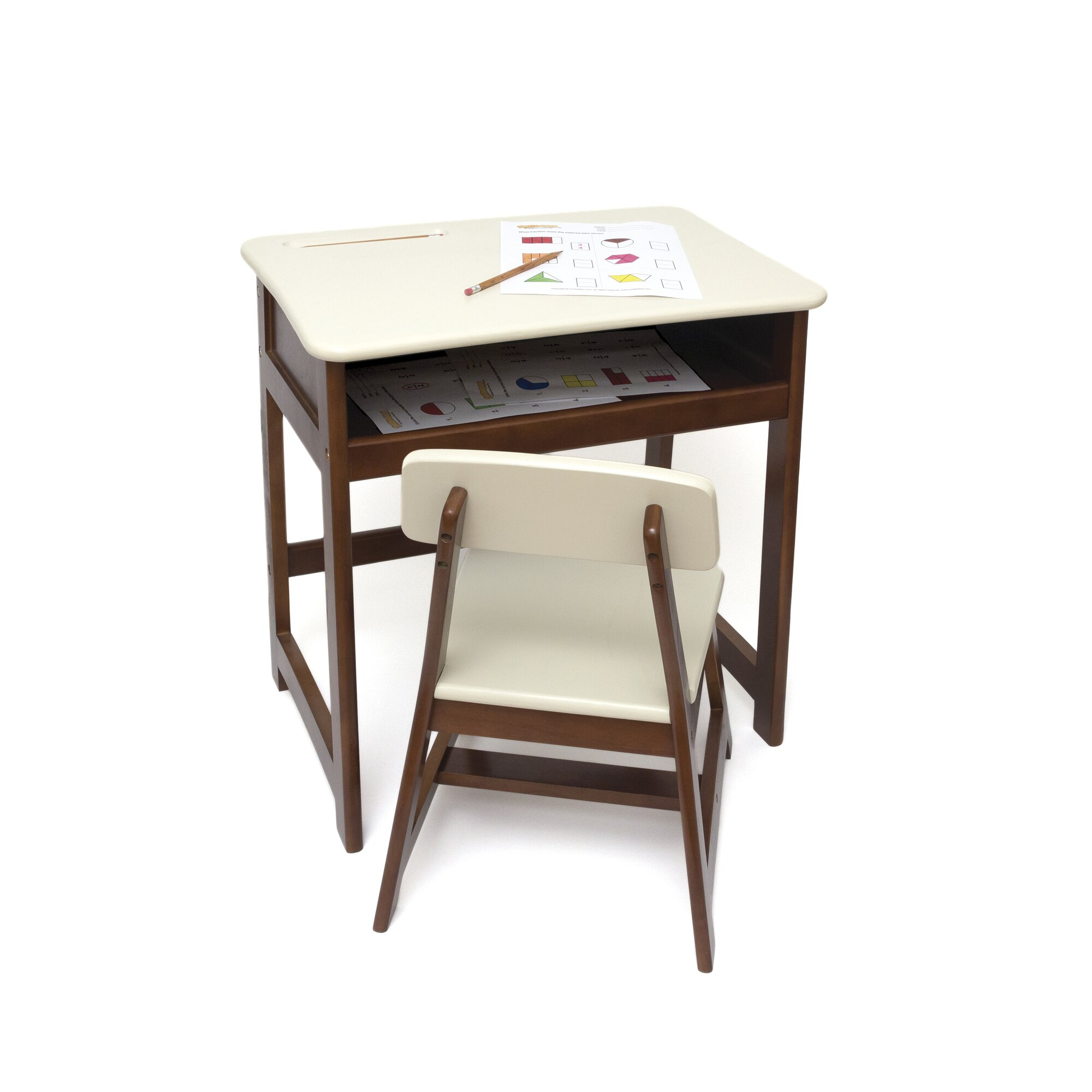 Lipper International Kid S 2 Piece Rectangular Table And
