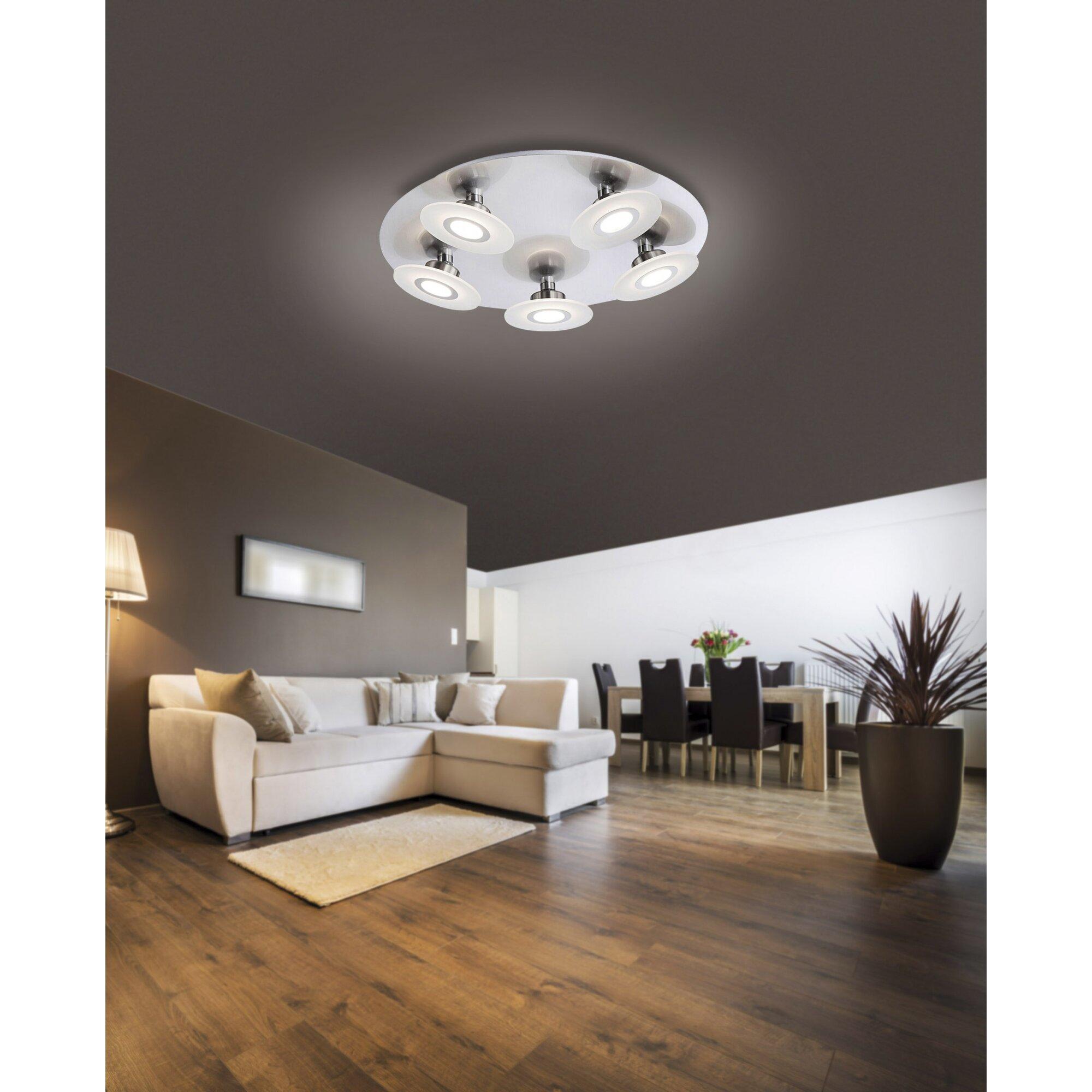 paul neuhaus deckenleuchte 5 flammig magna bewertungen. Black Bedroom Furniture Sets. Home Design Ideas