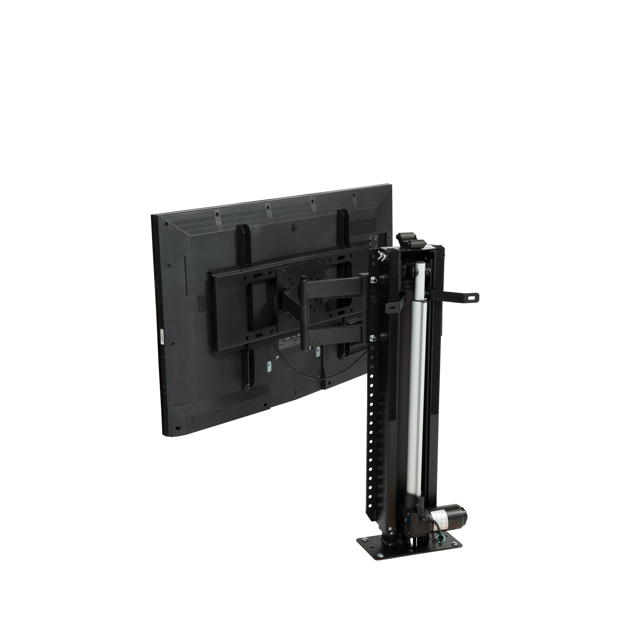 Touchstone whisper lift ii pro swivel floor stand mount 65 for Motorized tv lift with swivel