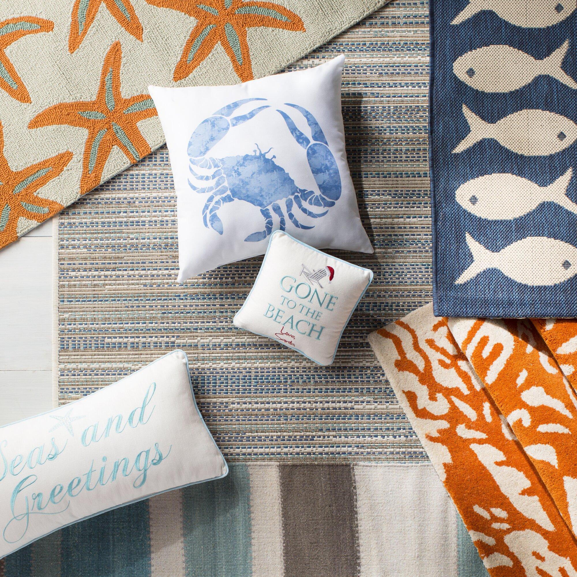 Beachcrest Home Jasmine Estates Sand Turquoise Indoor