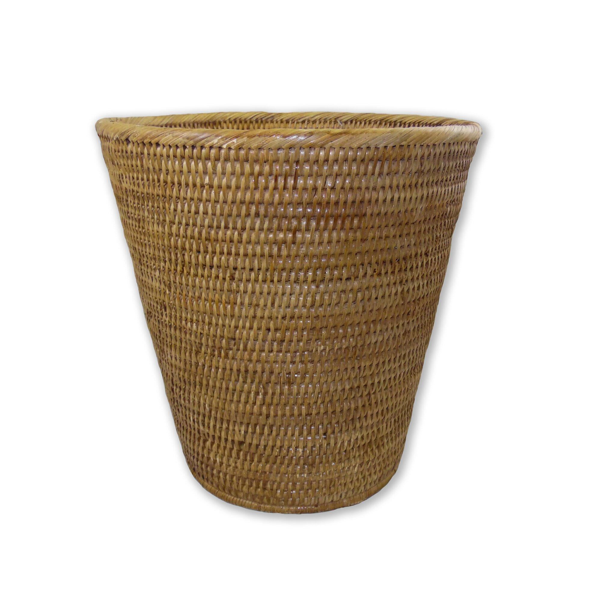 Artifacts trading rattan waste basket reviews - Rattan waste basket ...