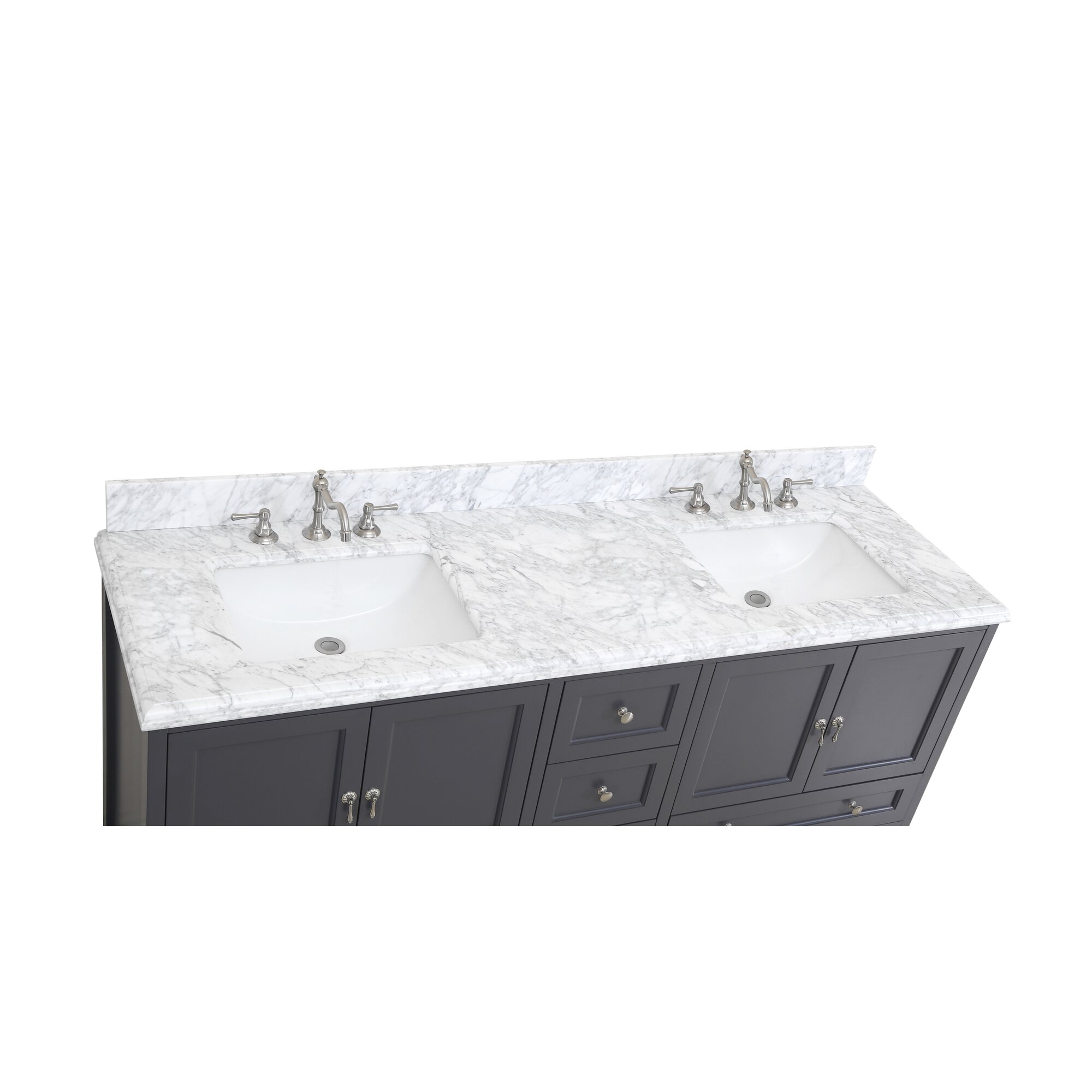 "72 Madison Double Vessel Sink Vanity: KBC Madison 72"" Double Bathroom Vanity Set & Reviews"