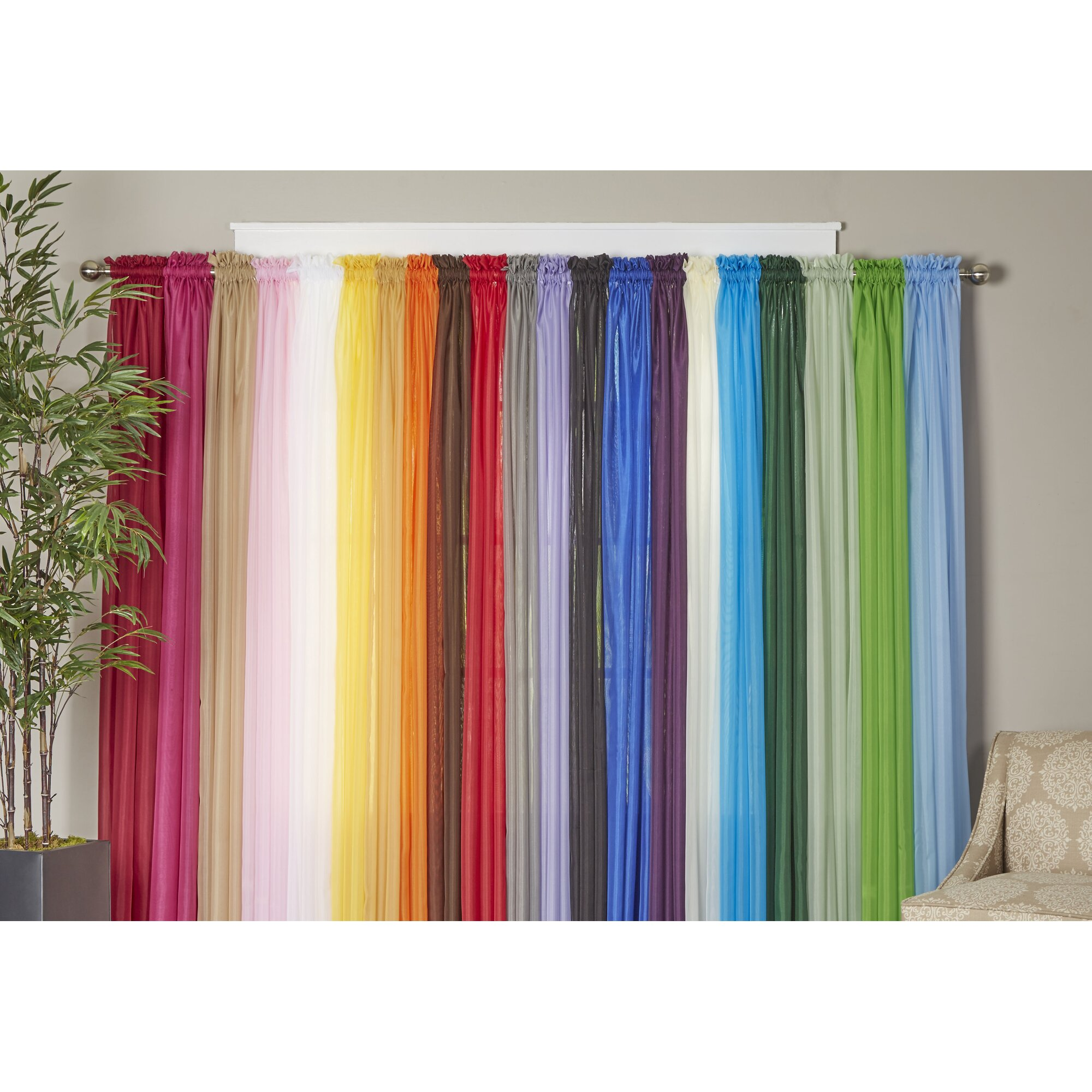 Wayfair Basics Wayfair Basics Solid Sheer Curtain Panels & Reviews | Wayfair.ca