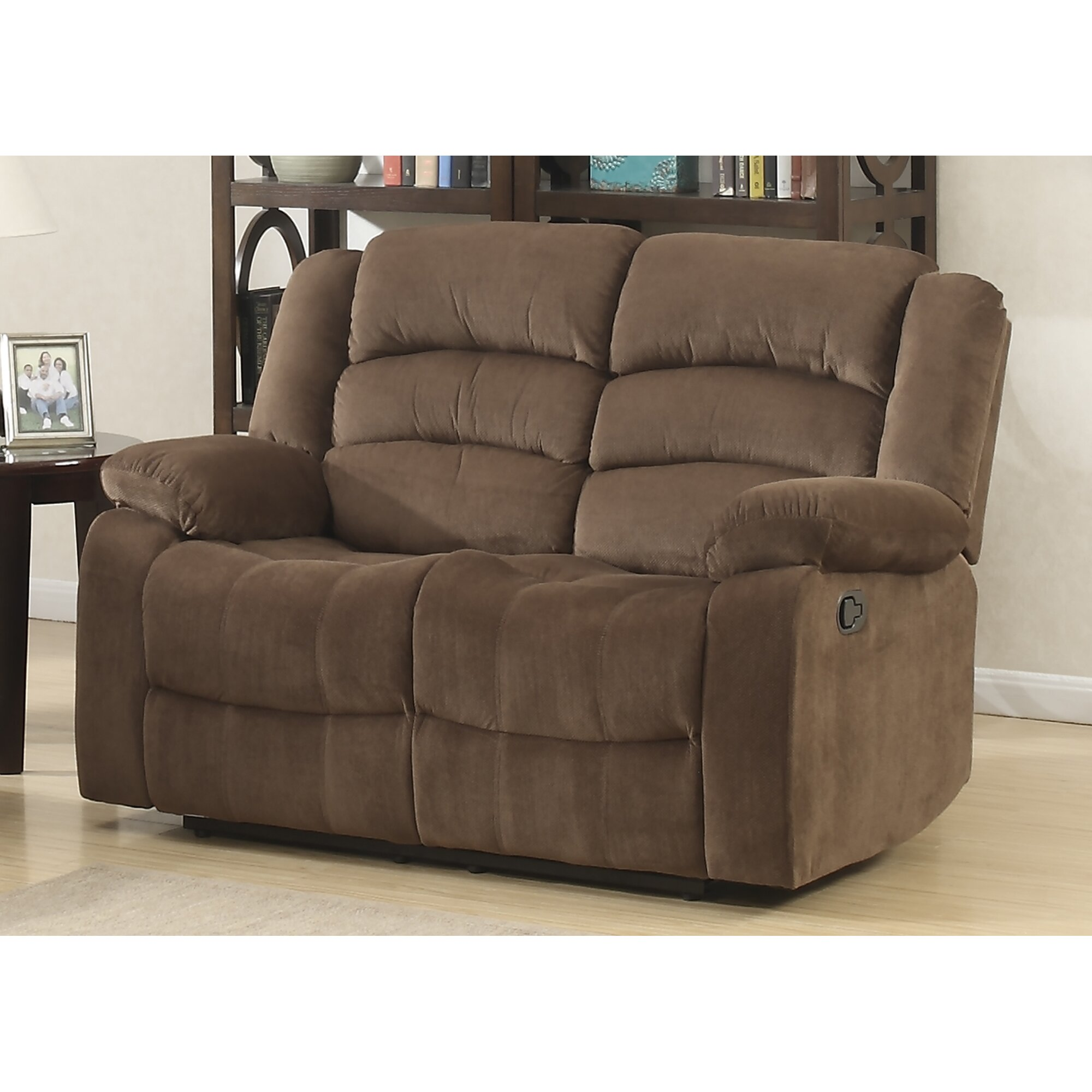Ac pacific bill living room reclining loveseat reviews for Loveseat for kids room