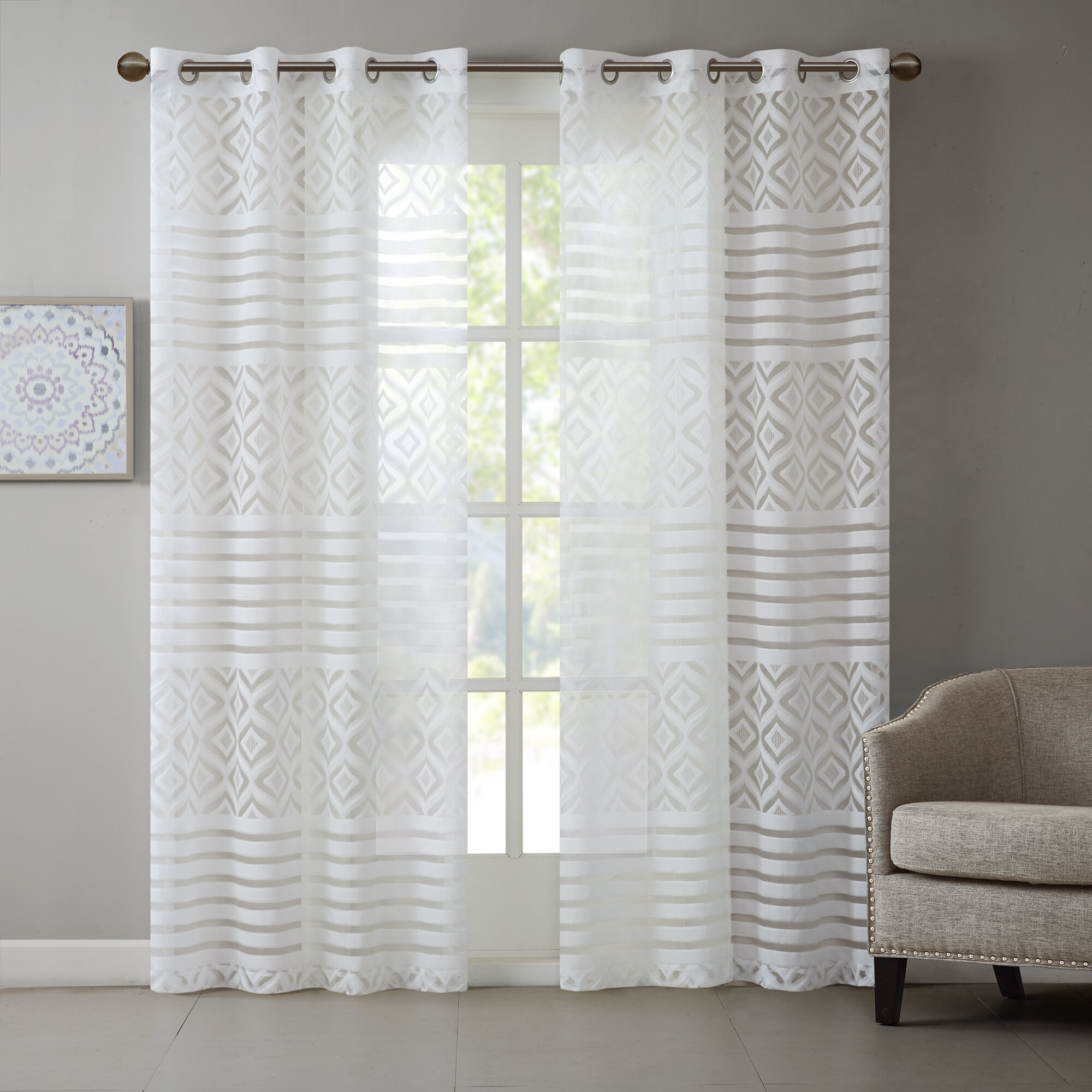 Burnout Curtains Charlton Home Fl...